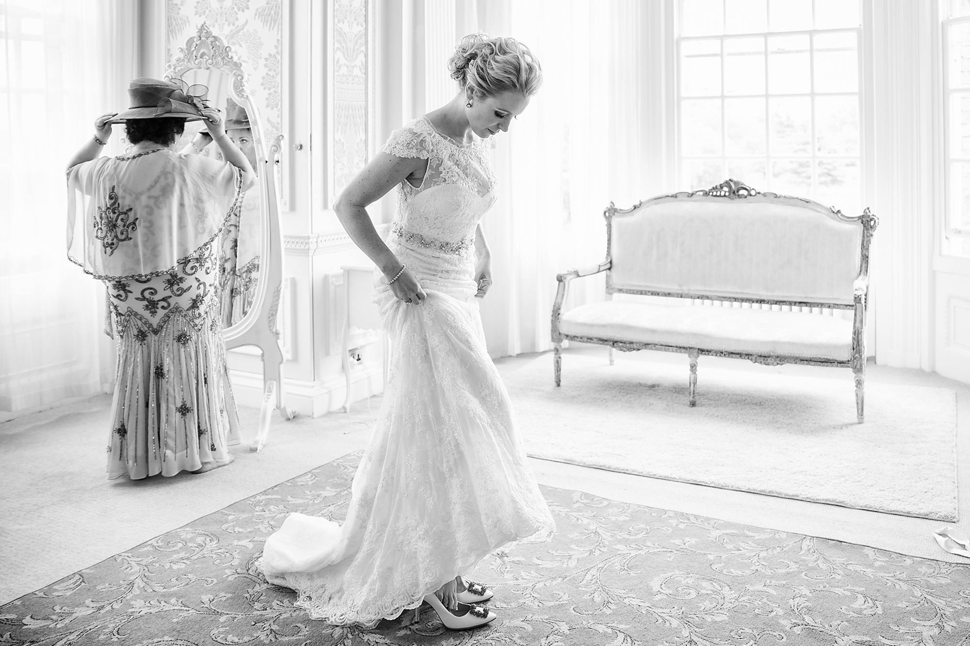 Bride getting ready at Hedsor House Wedding