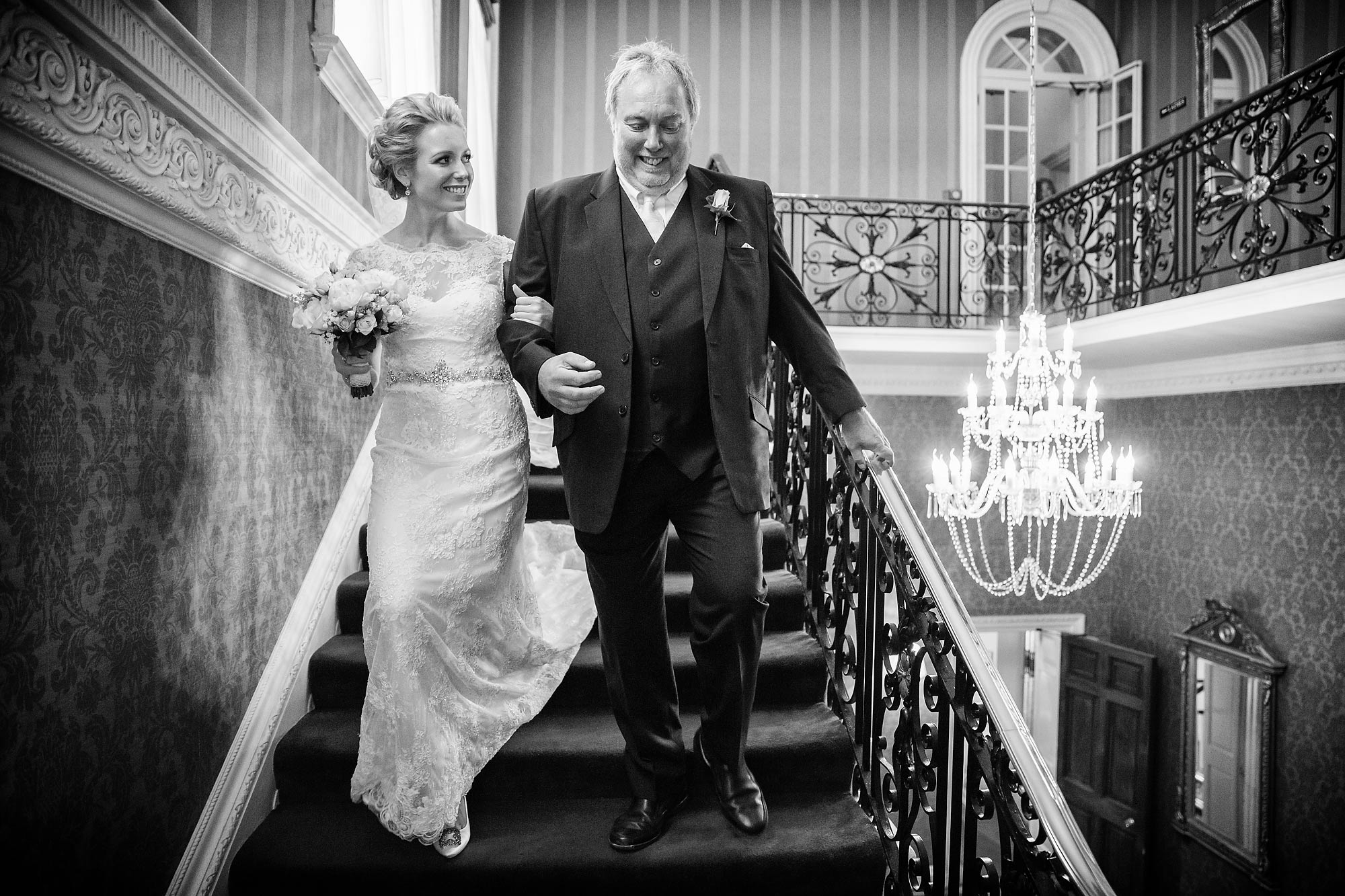 bride and dad at Hedsor House Wedding