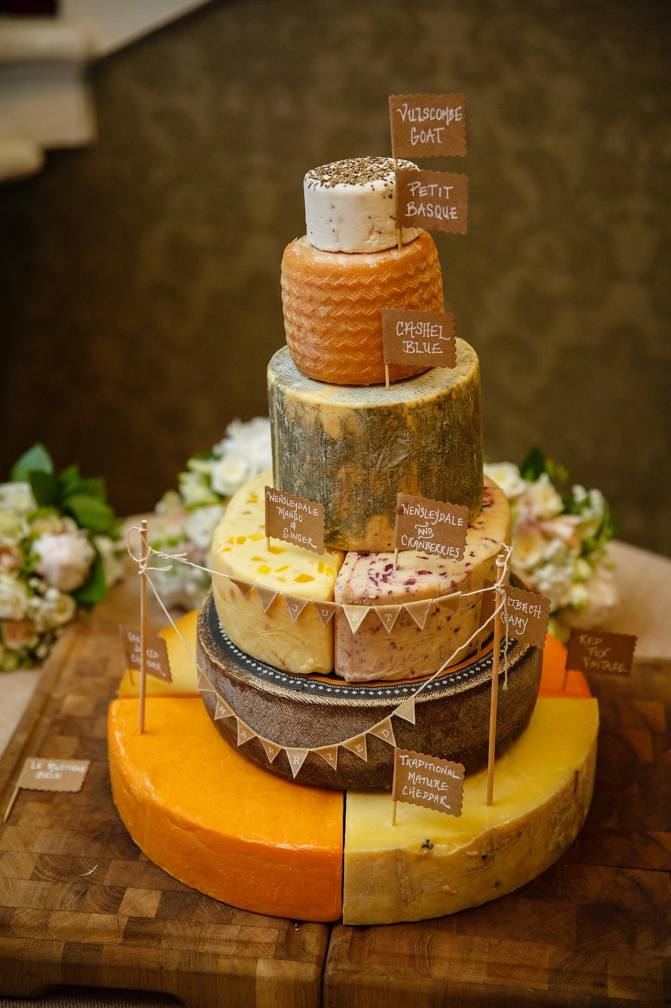 Wedding Cake of Cheese