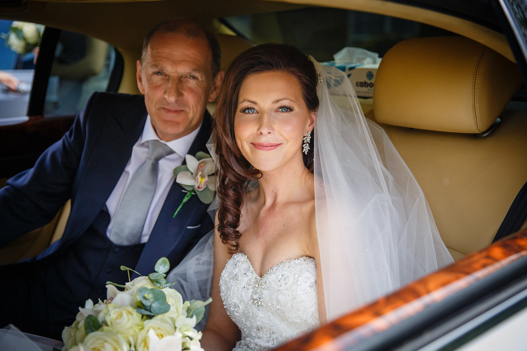 bride and dad at Stock Brook Country Club Wedding