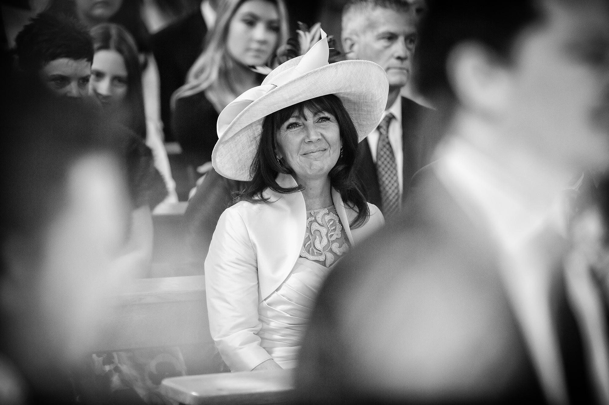mum watches bride