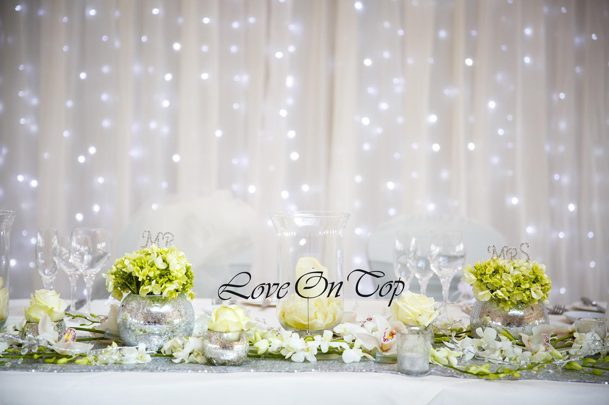 wedding set up Stock Brook Country Club