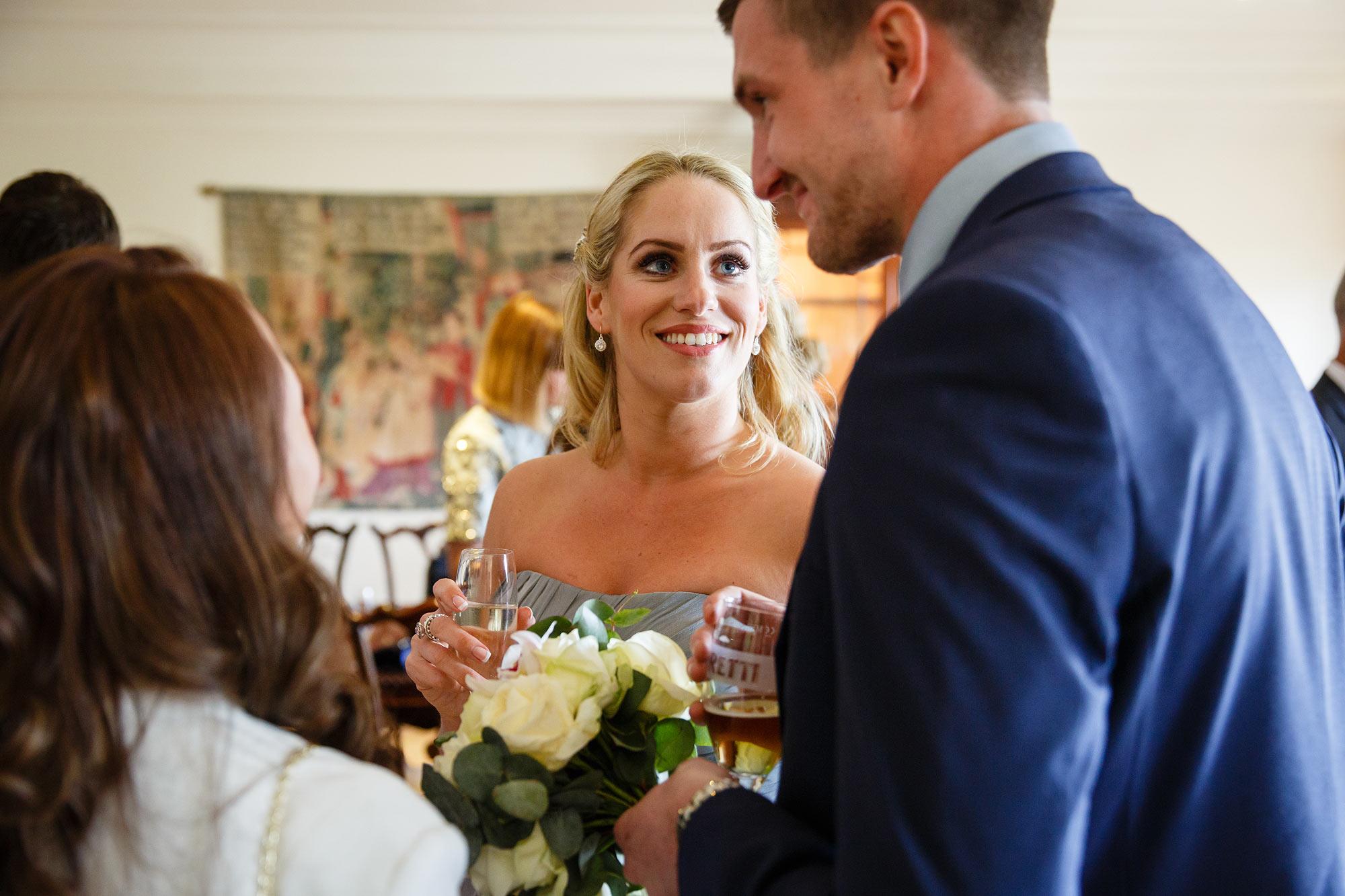 bridesmaid at Stock Brook Country Club Wedding