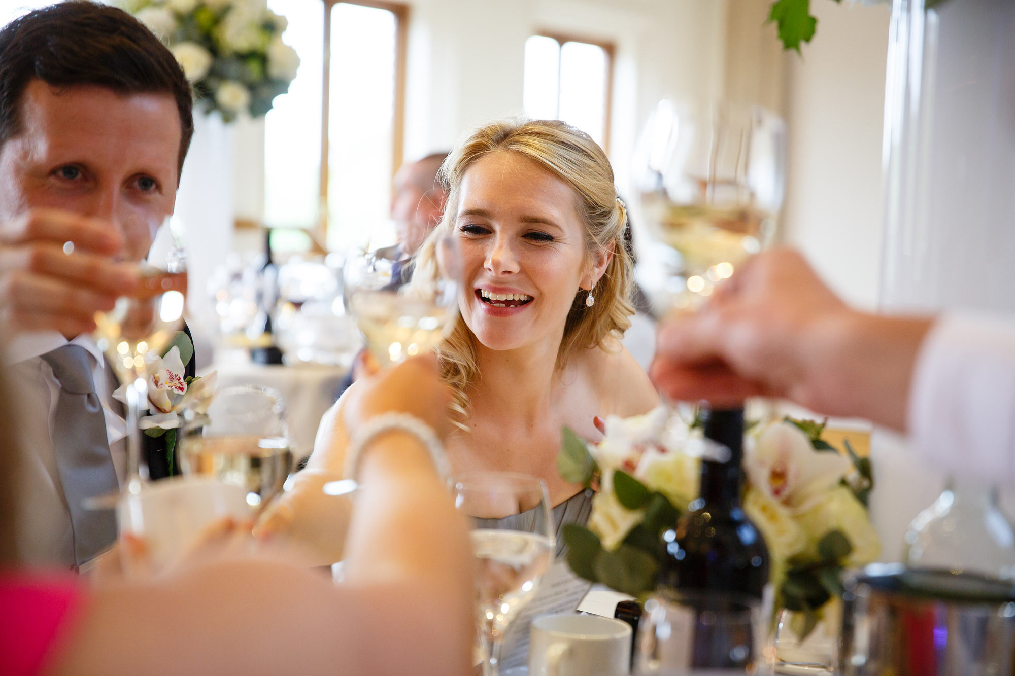 toasts at Stock Brook Country Club Wedding