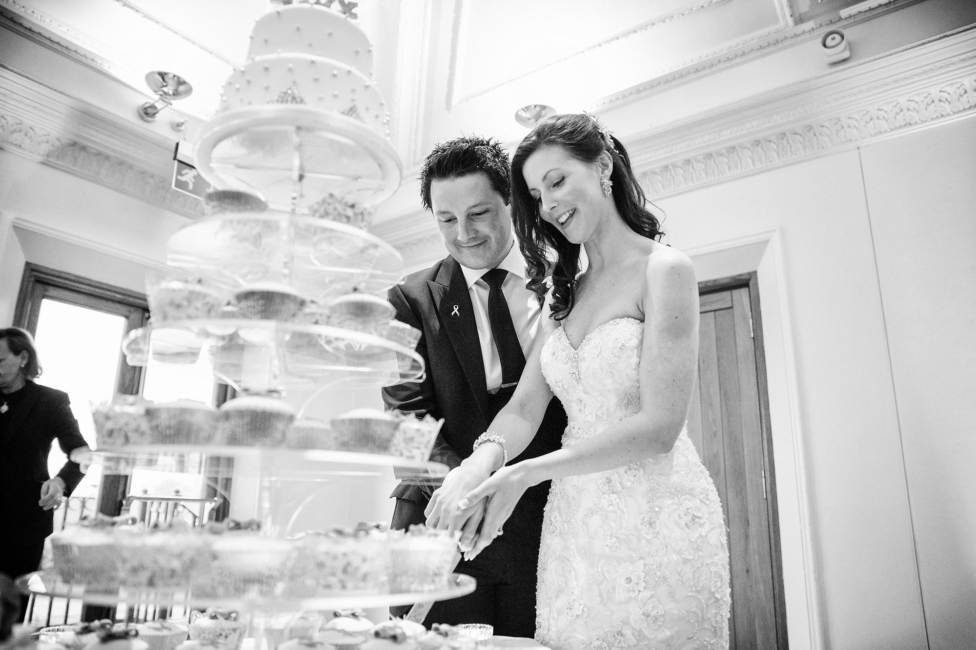 cake cutting at Stock Brook Country Club Wedding