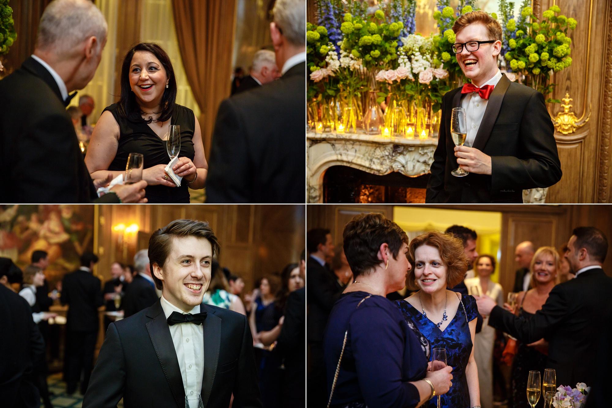 wedding reception claridges