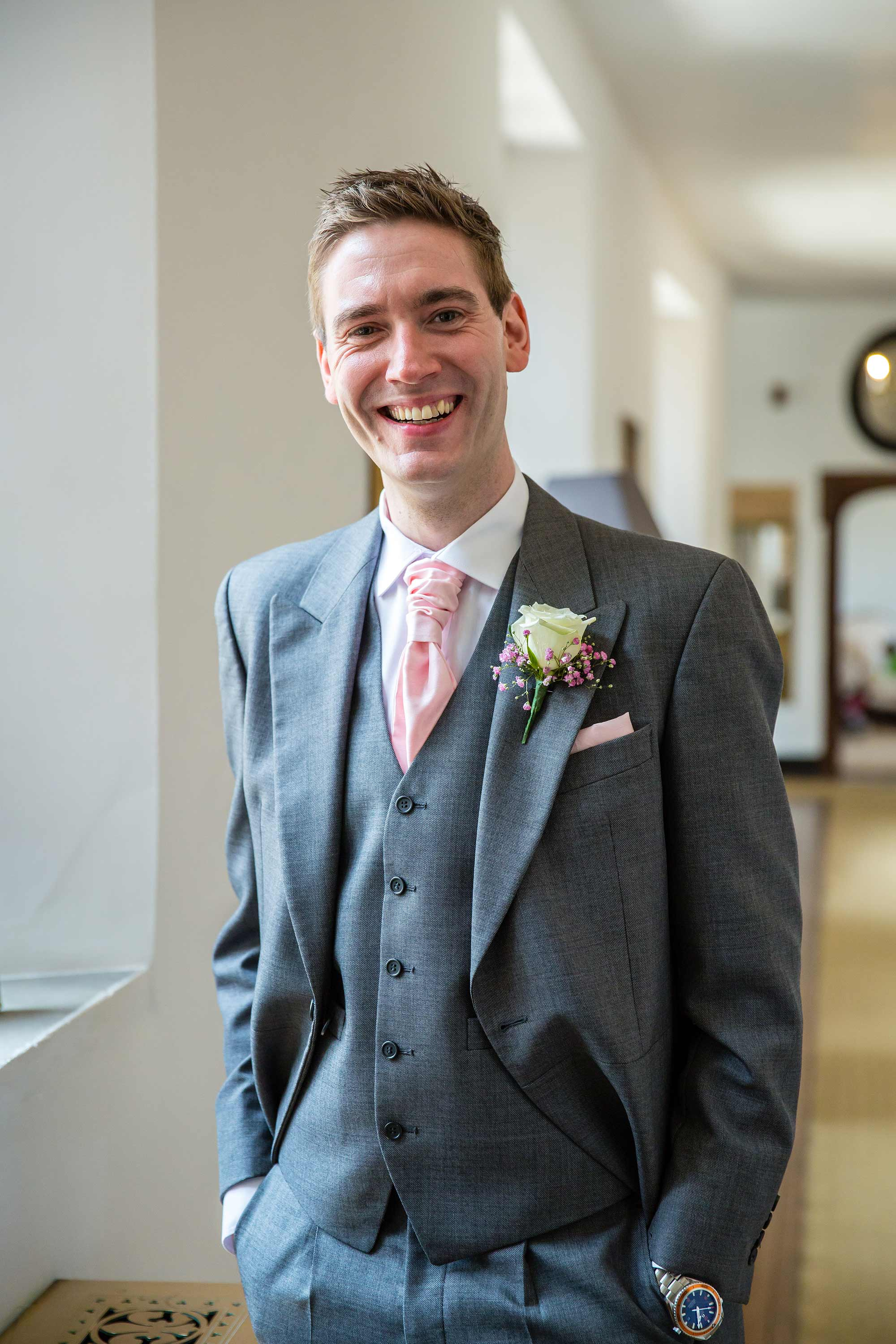 A portrait of Jack the groom at Hengrave Hall that day