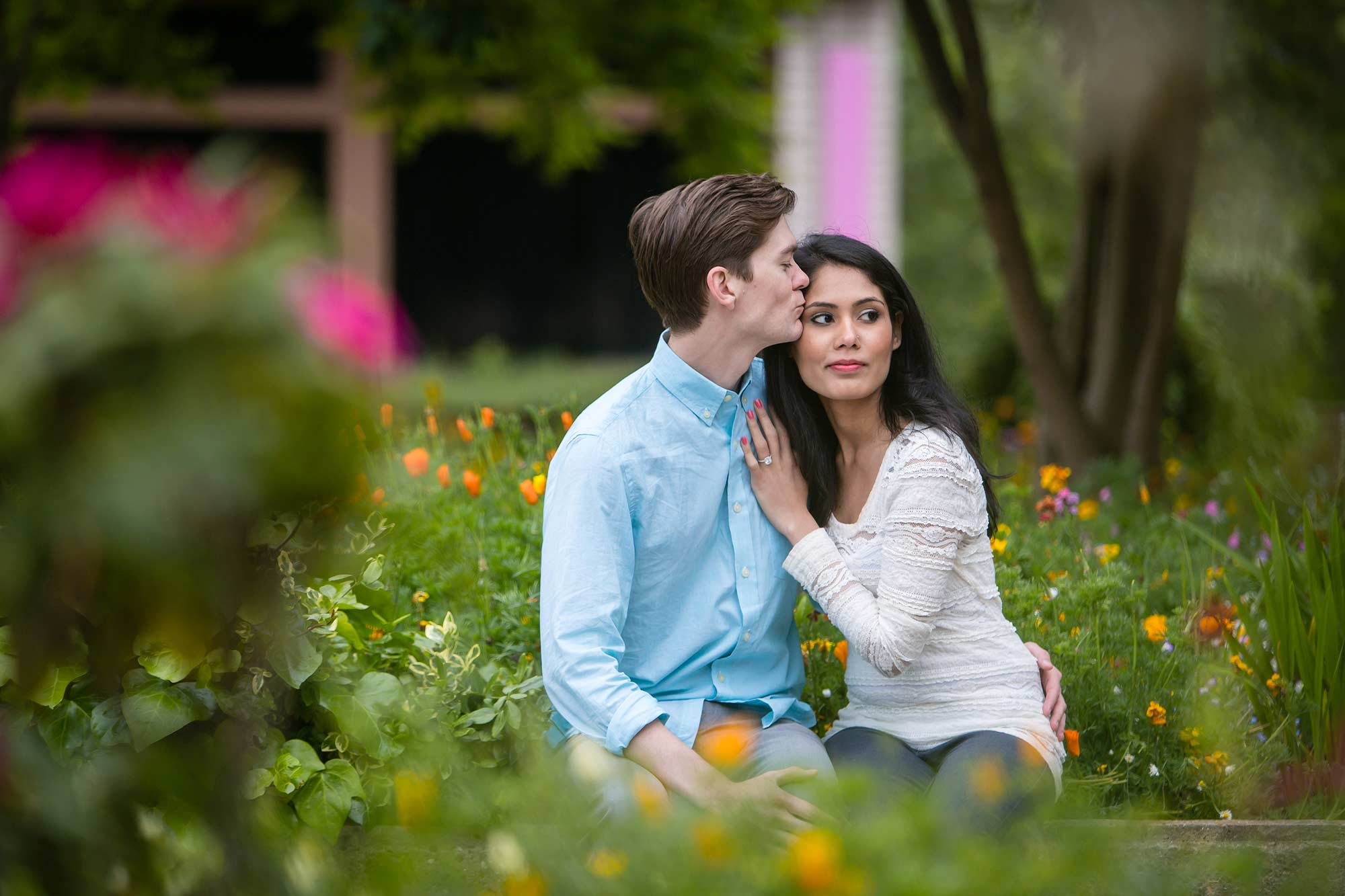 Couple on London Engagement Shoot hyde park