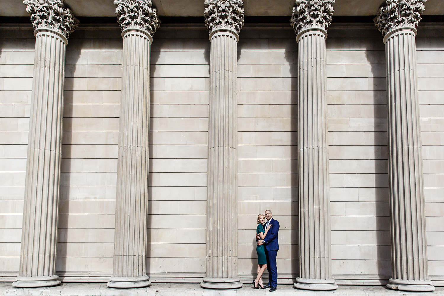 royal exchange engagement shoot