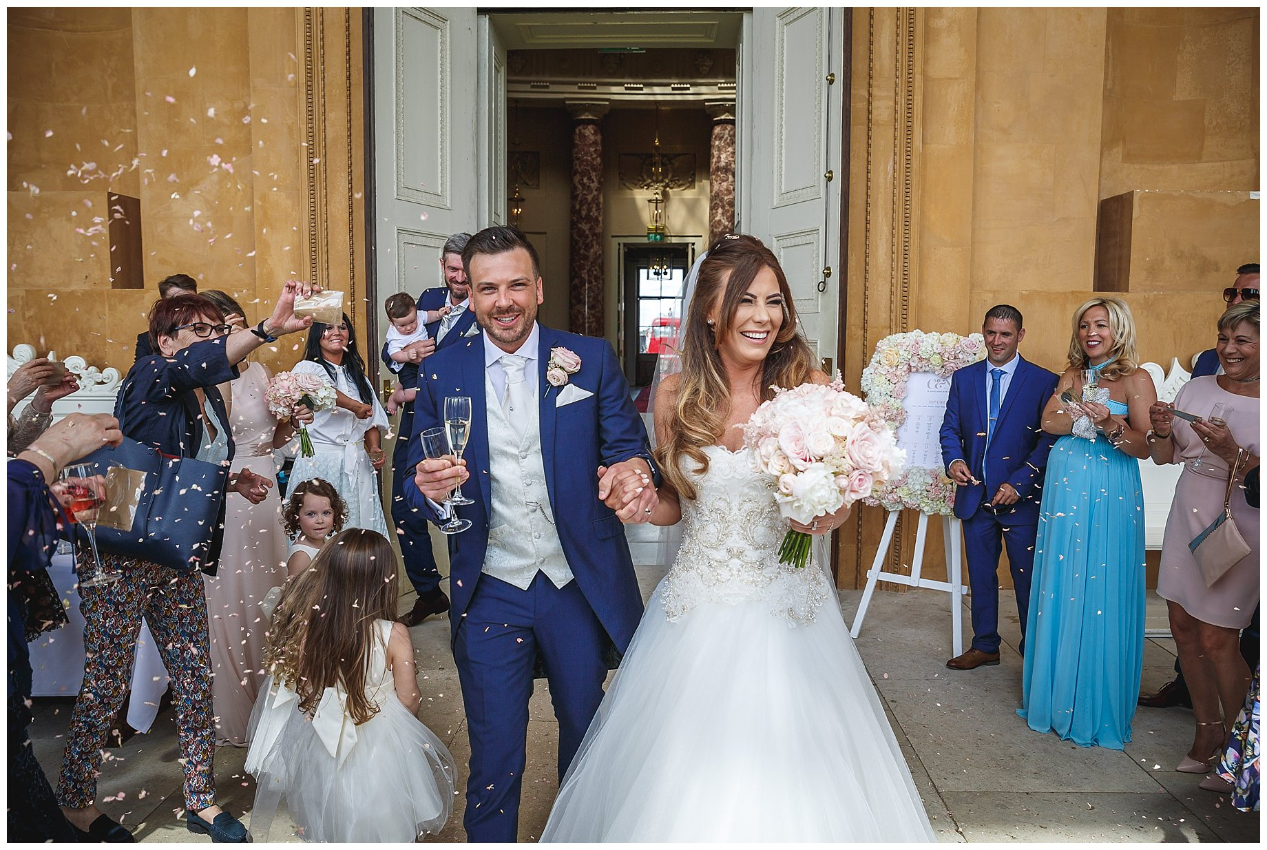 confetti at Stowe House Wedding