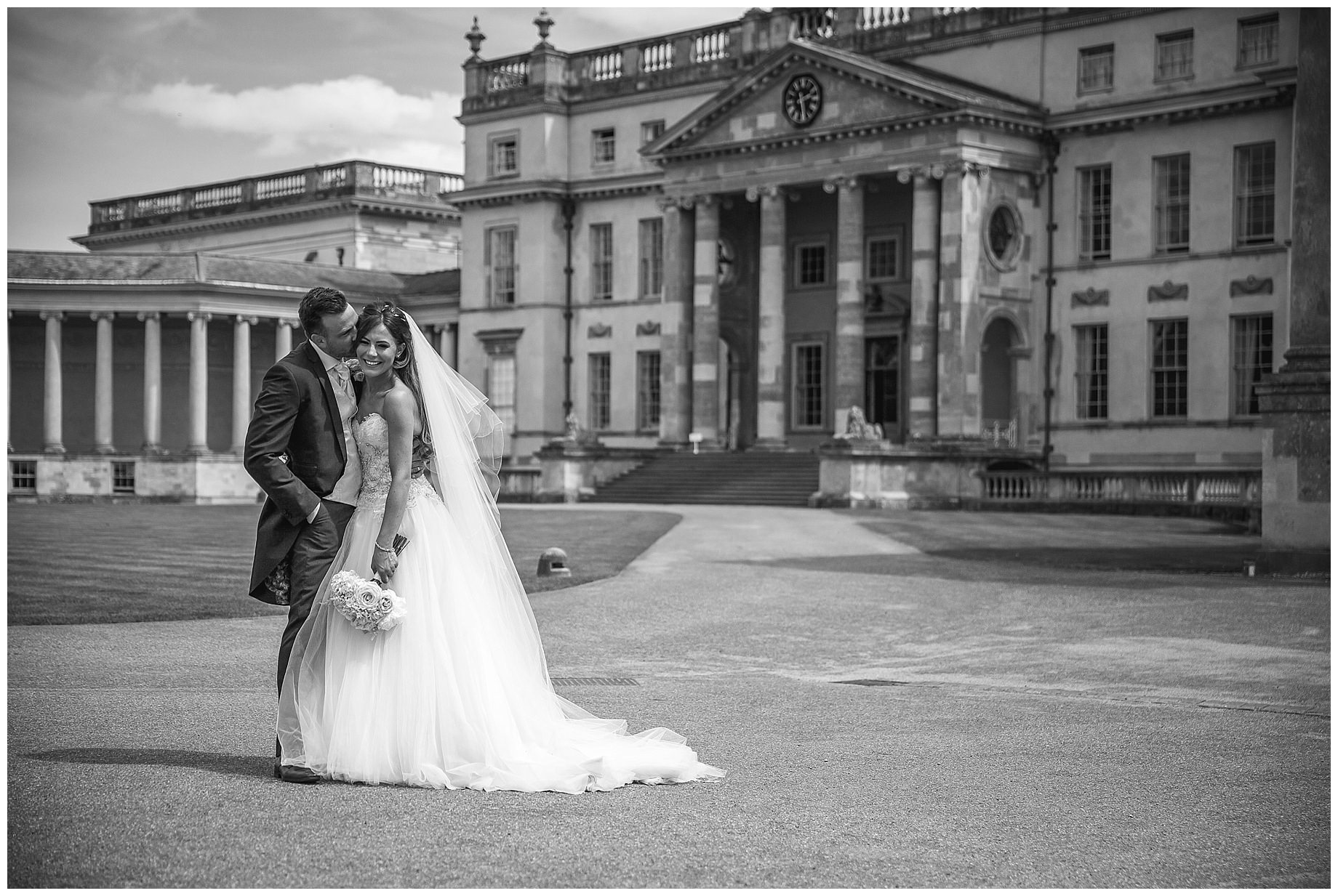 Stowe House Wedding Photography in black and white