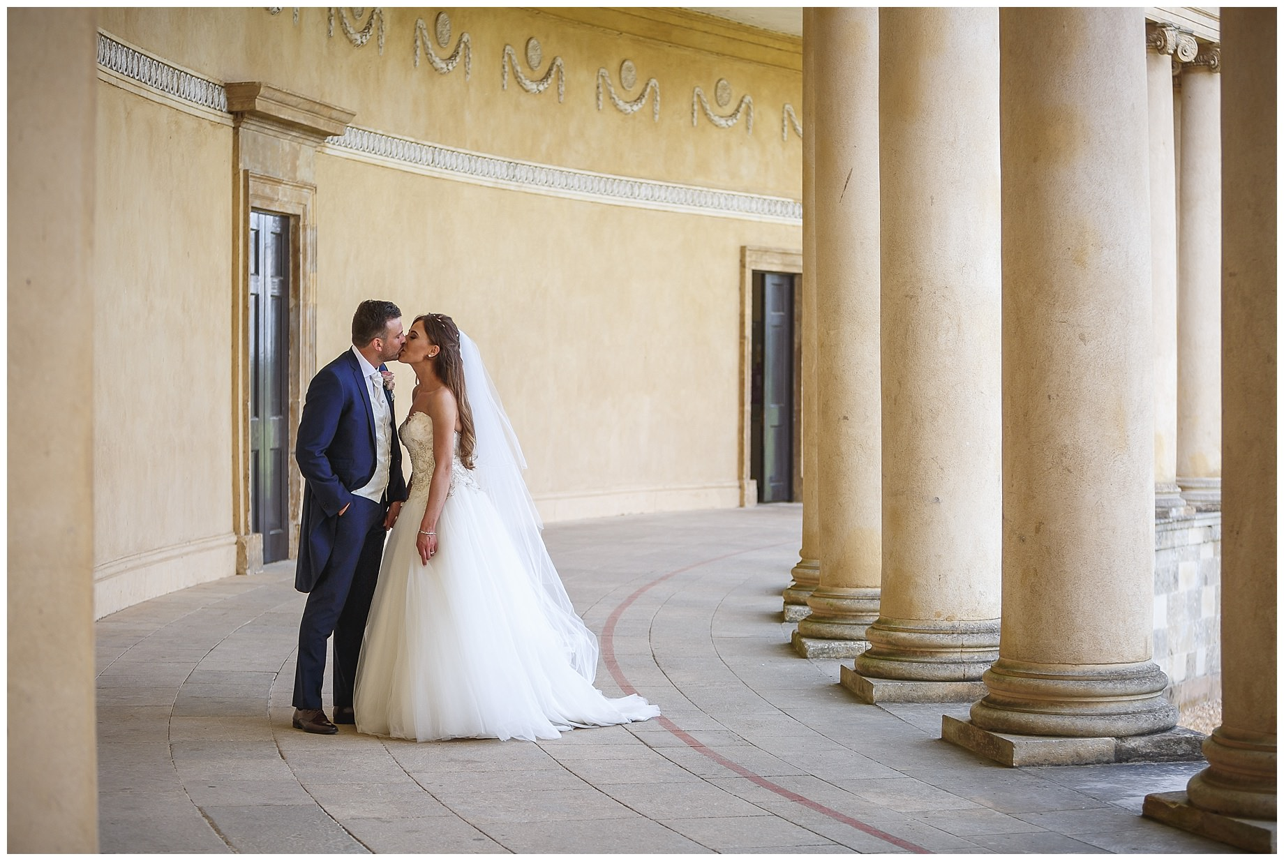Stowe House Wedding kiss