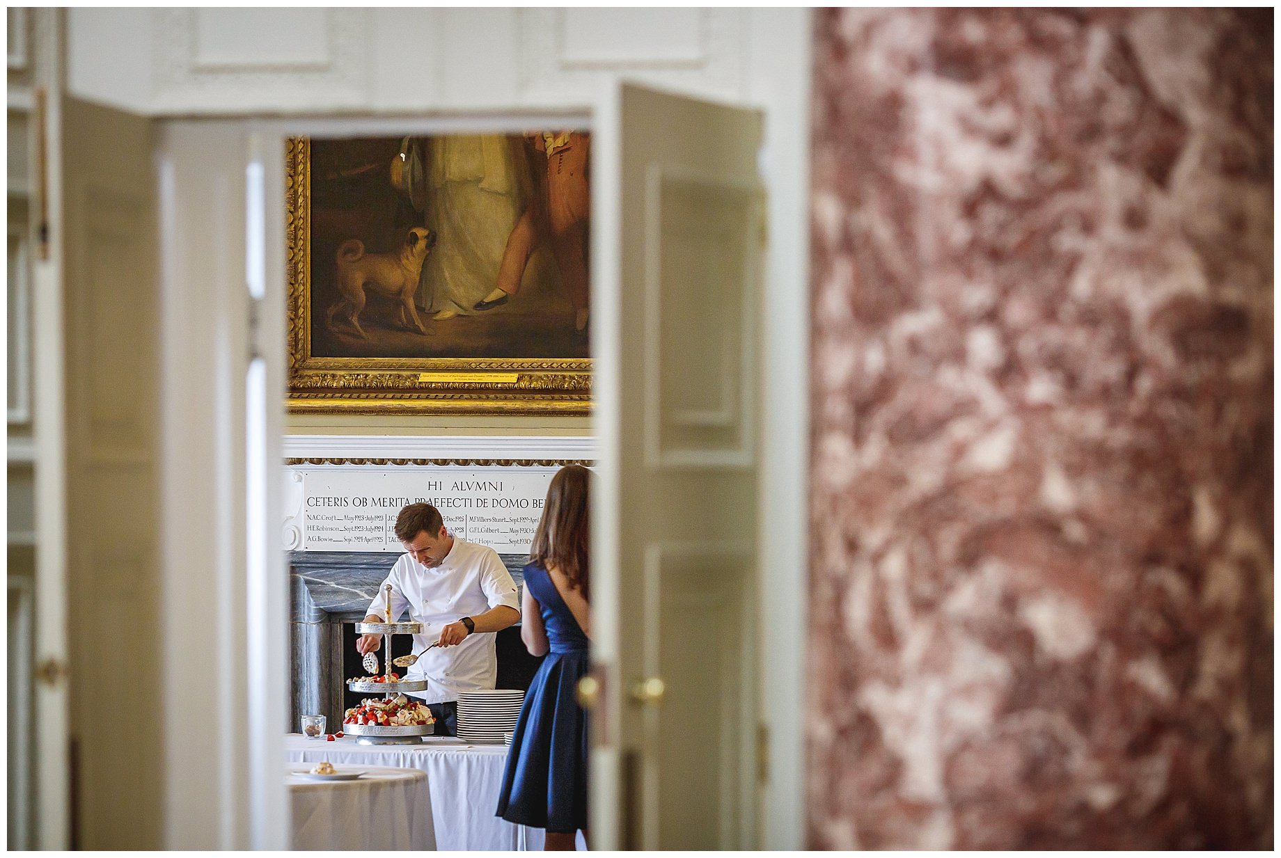 chef at Stowe House Wedding