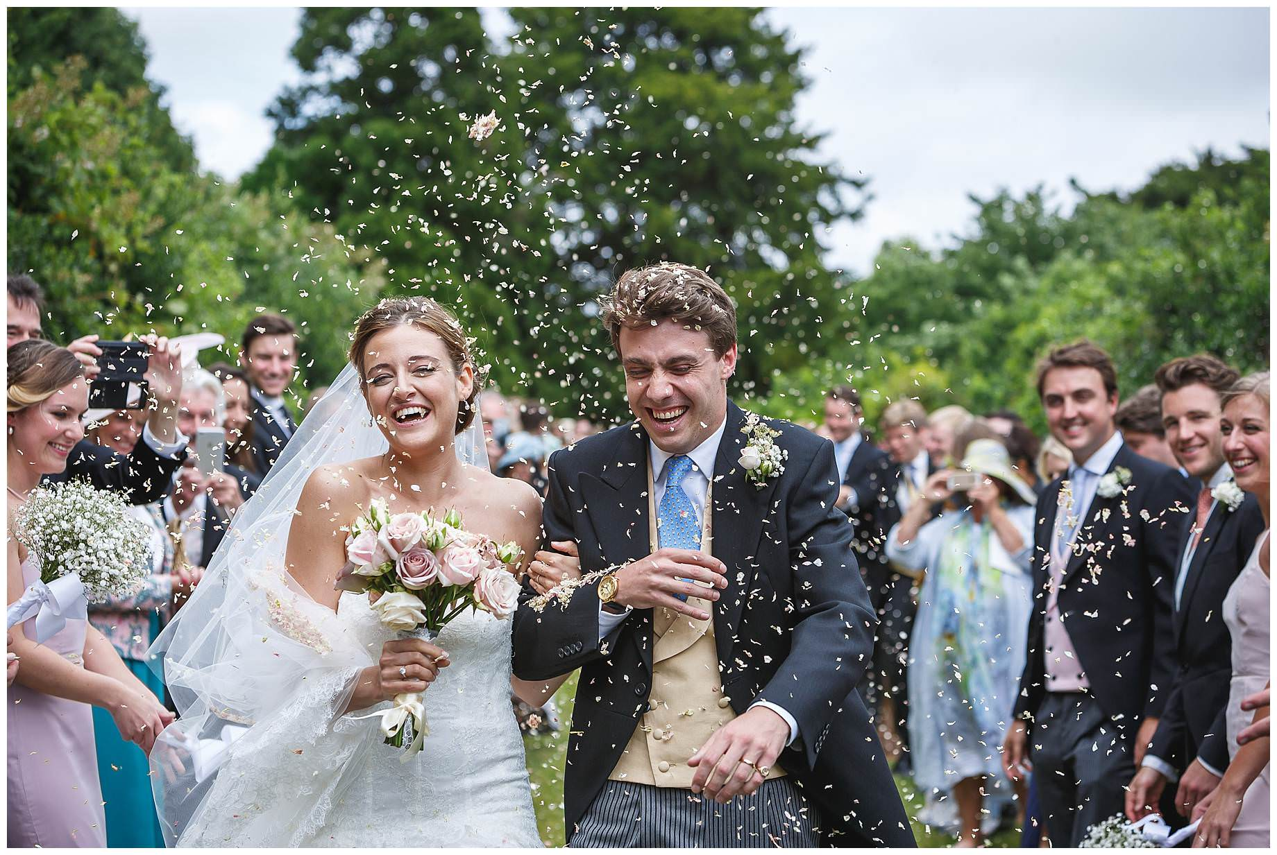 Goodnestone Park Wedding confetti
