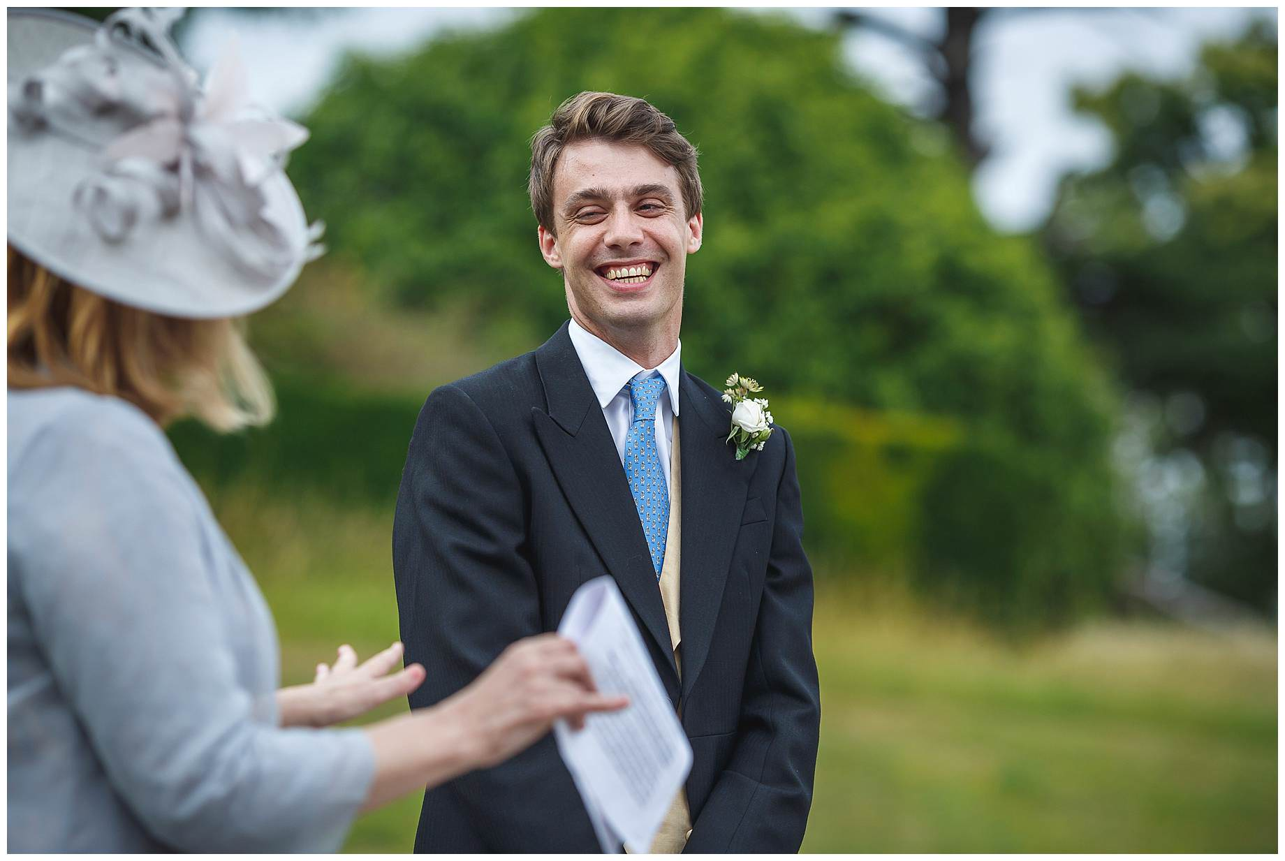 groom laughs at mother of the brides speech