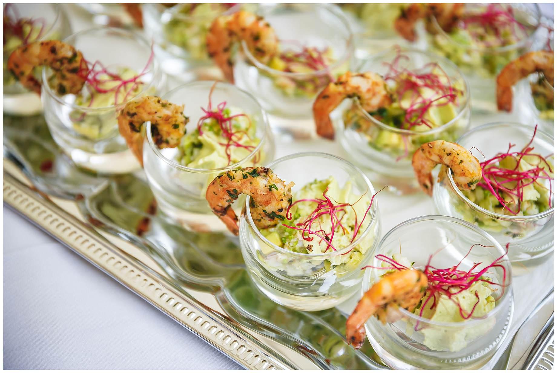 food at Chateau Brametourte Wedding