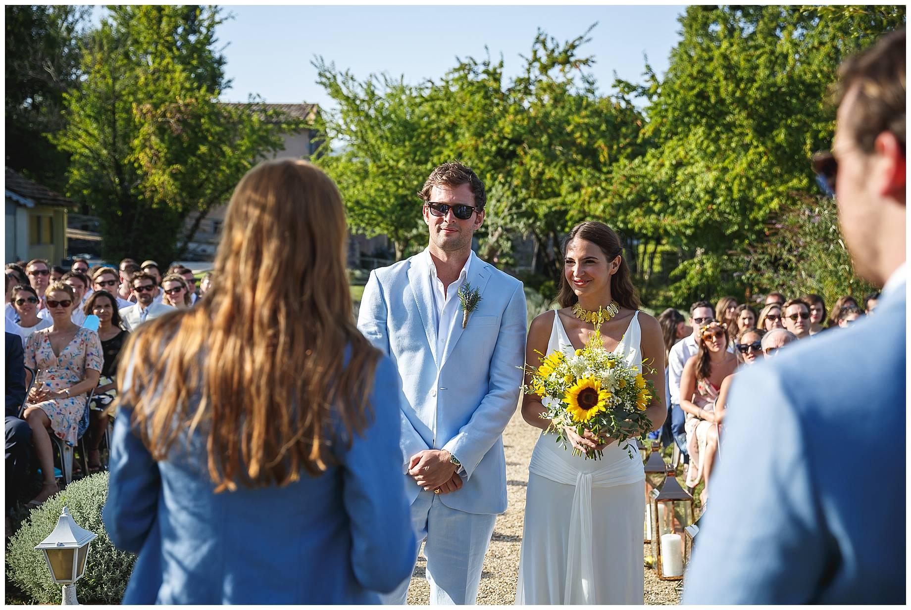 Chateau du Bijou Wedding Ceremony