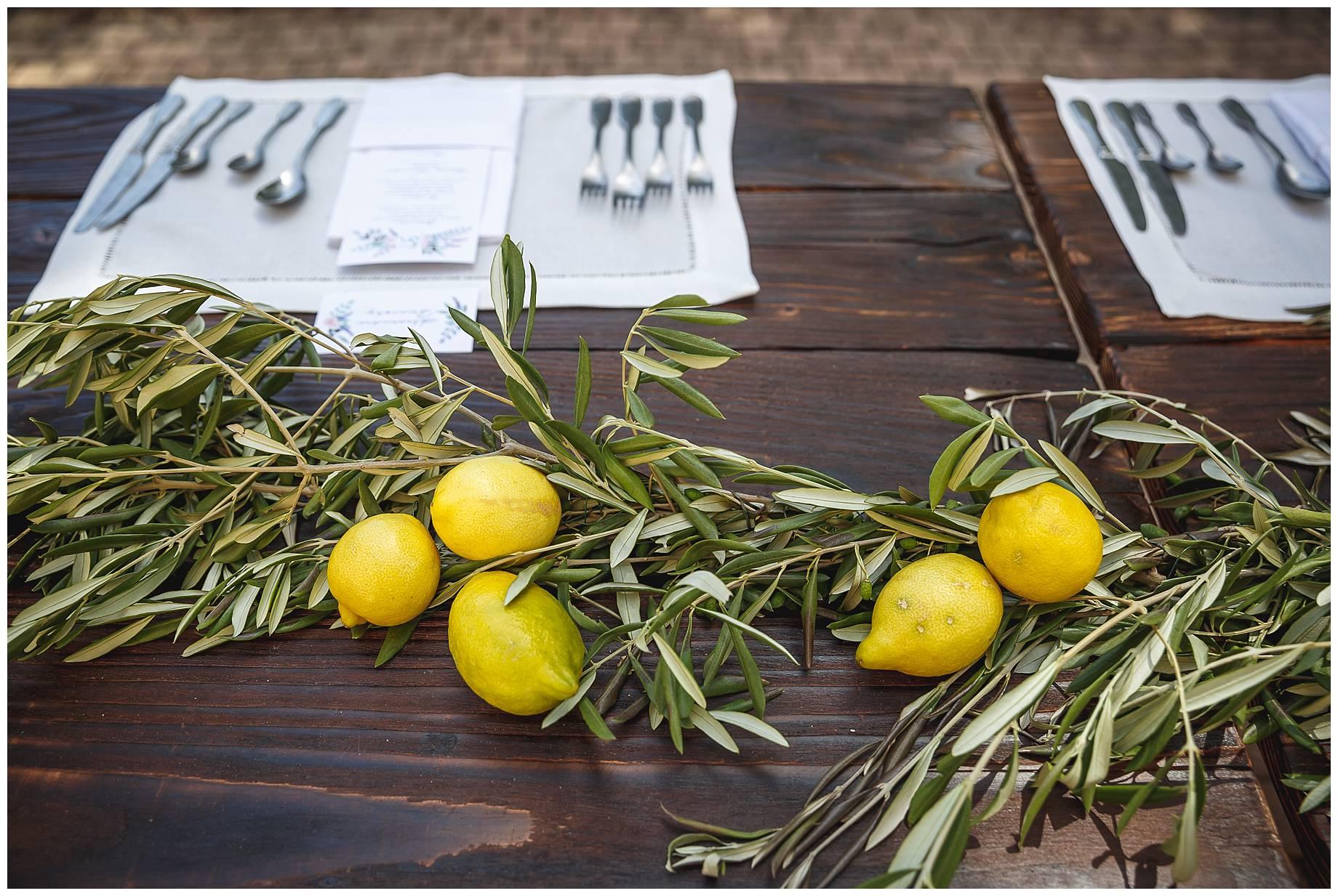 lemon table decorations