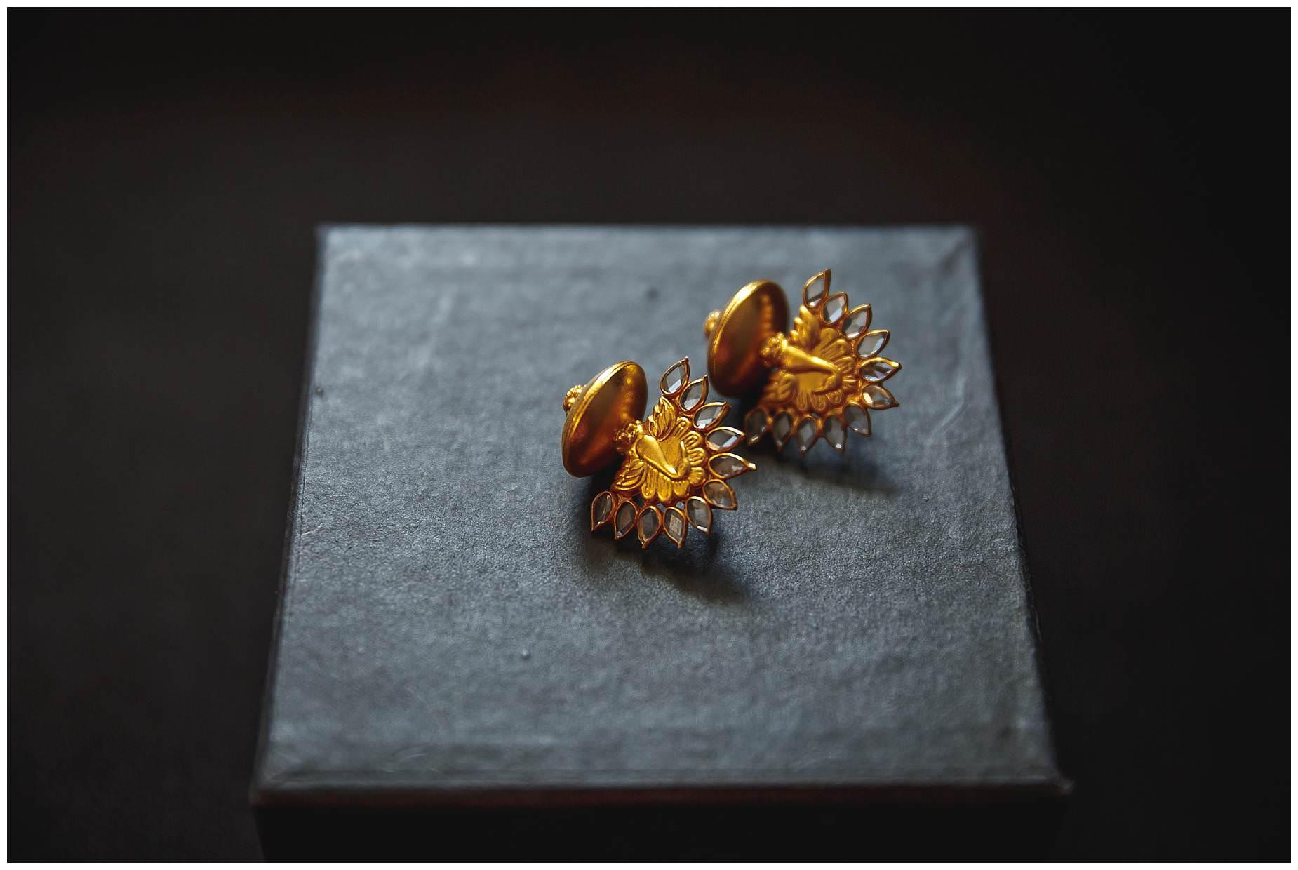asian earrings at wedding