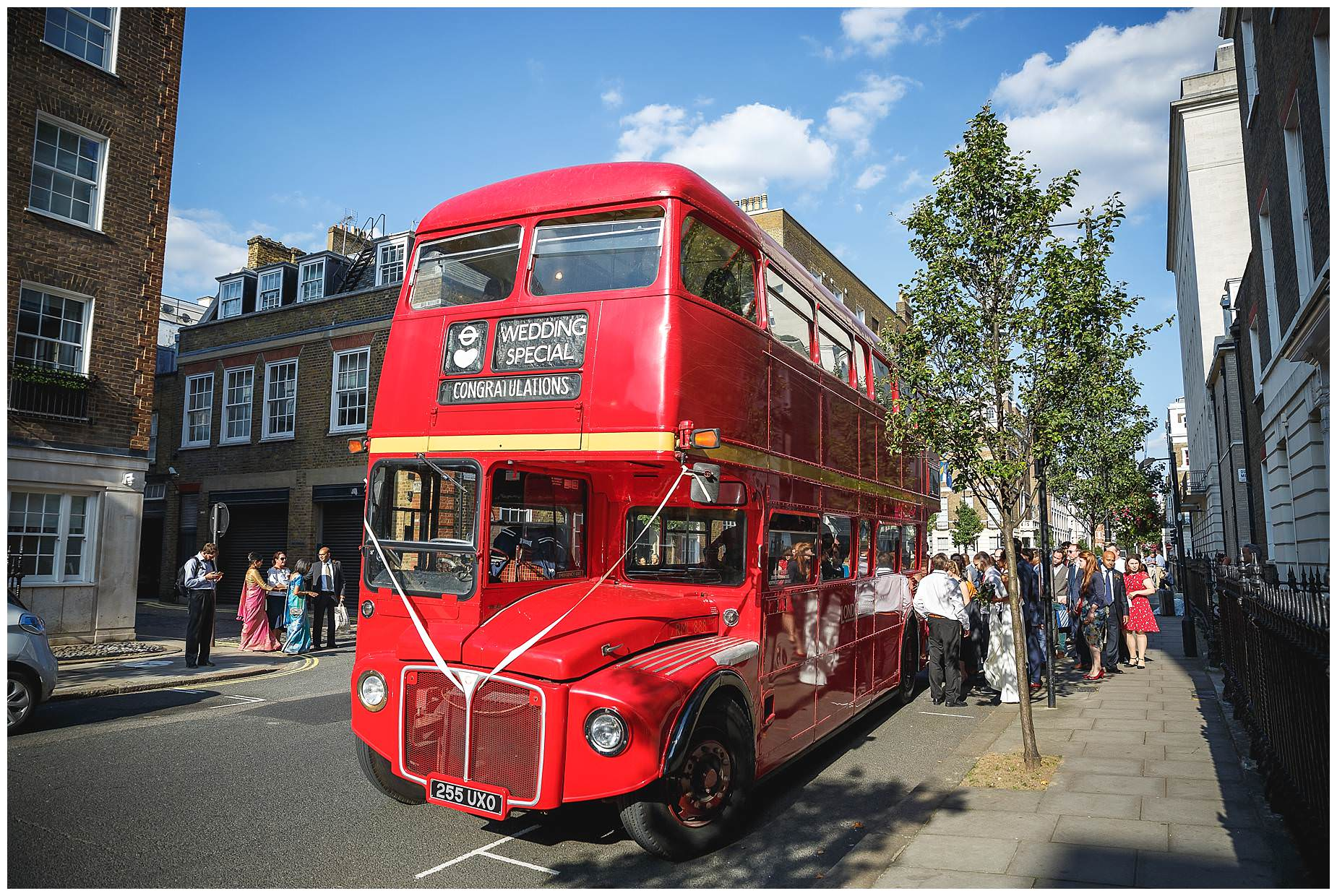 London bus picks up guests