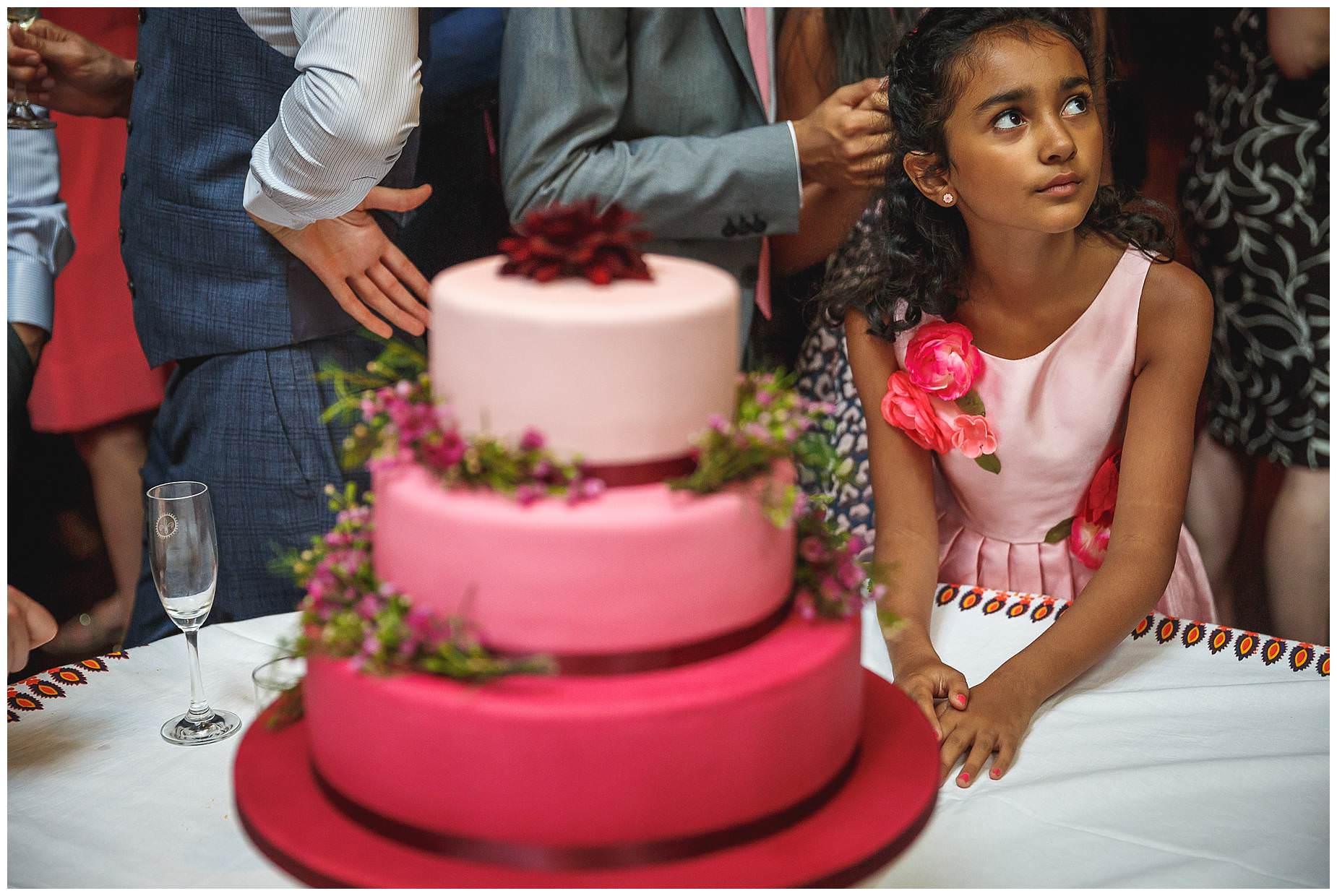 cake at Wedding at La Porte Des Indes