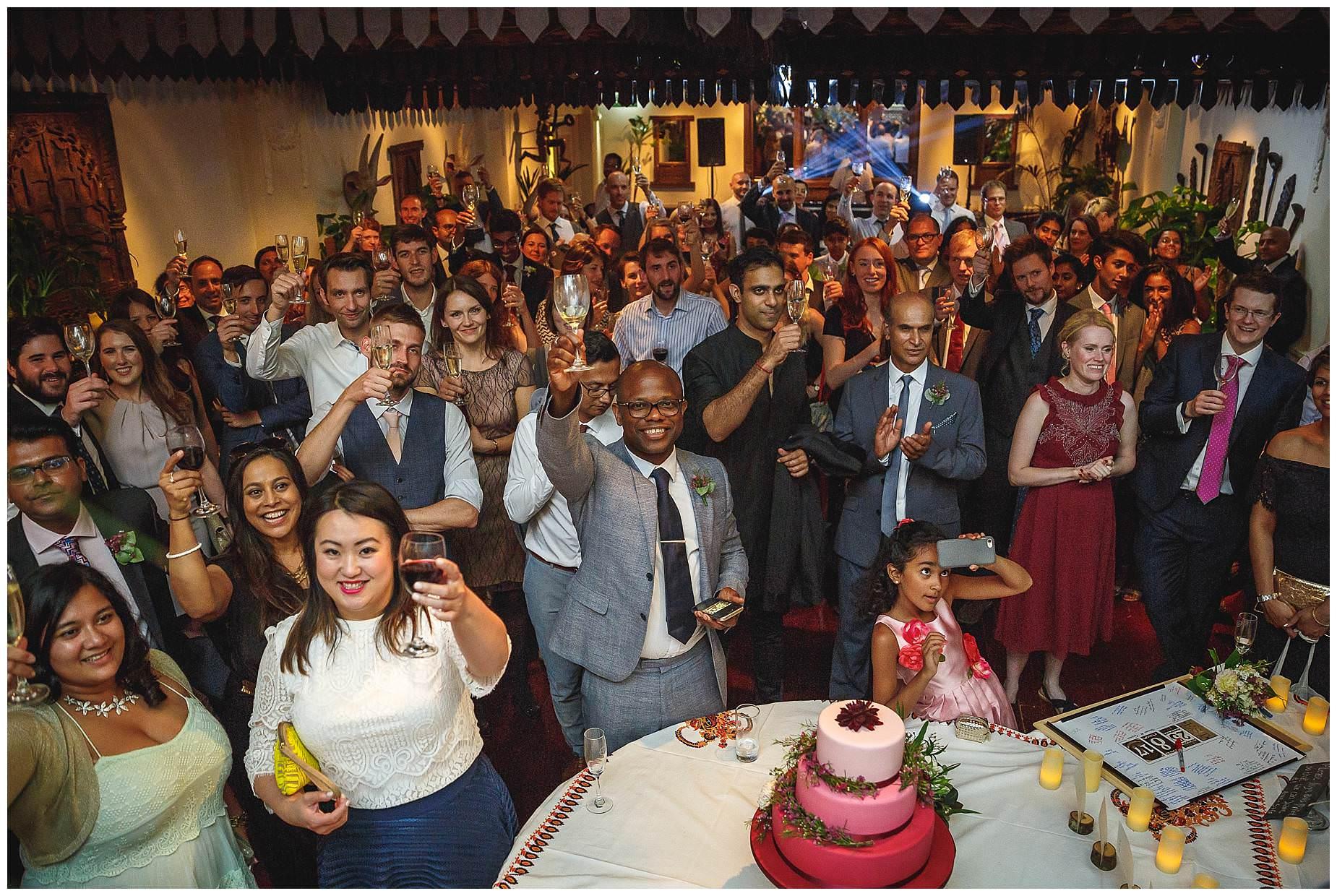 All guests at Wedding at La Porte Des Indes