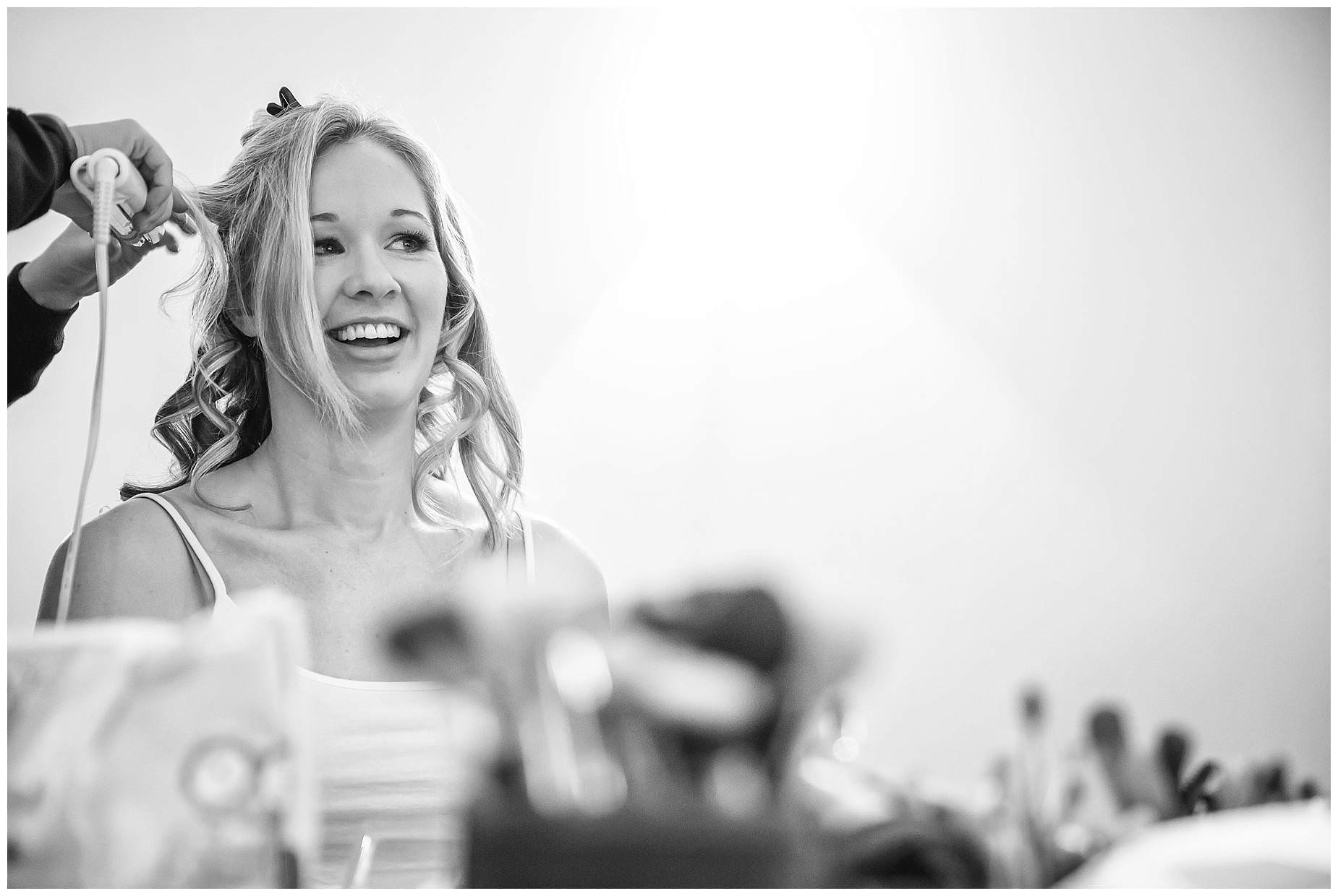 Bride getting ready at Northbrook Park