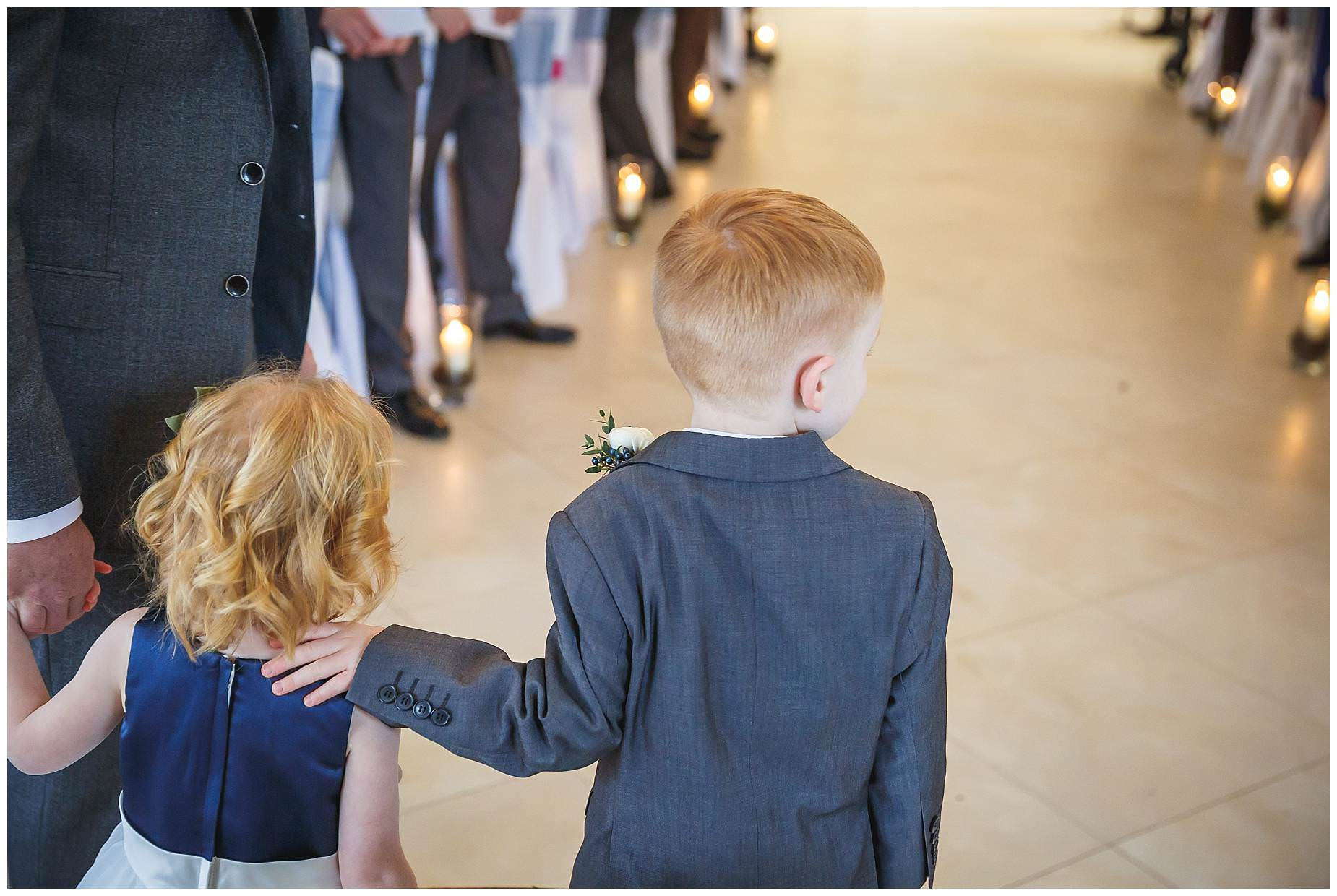 little children at Northbrook Park wedding
