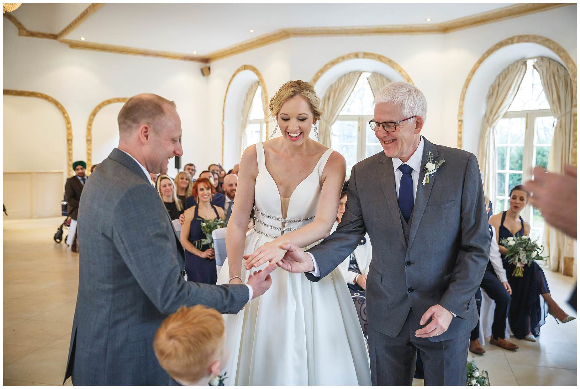 Dad gives bride away at Northbrook Park
