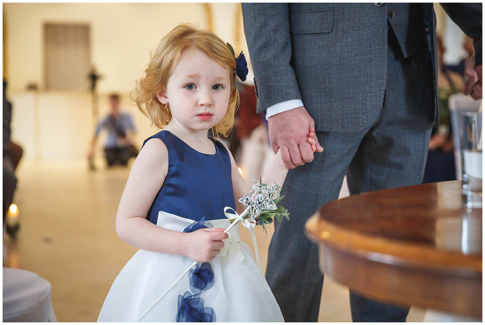 Flower girl at Northbrook Park wedding