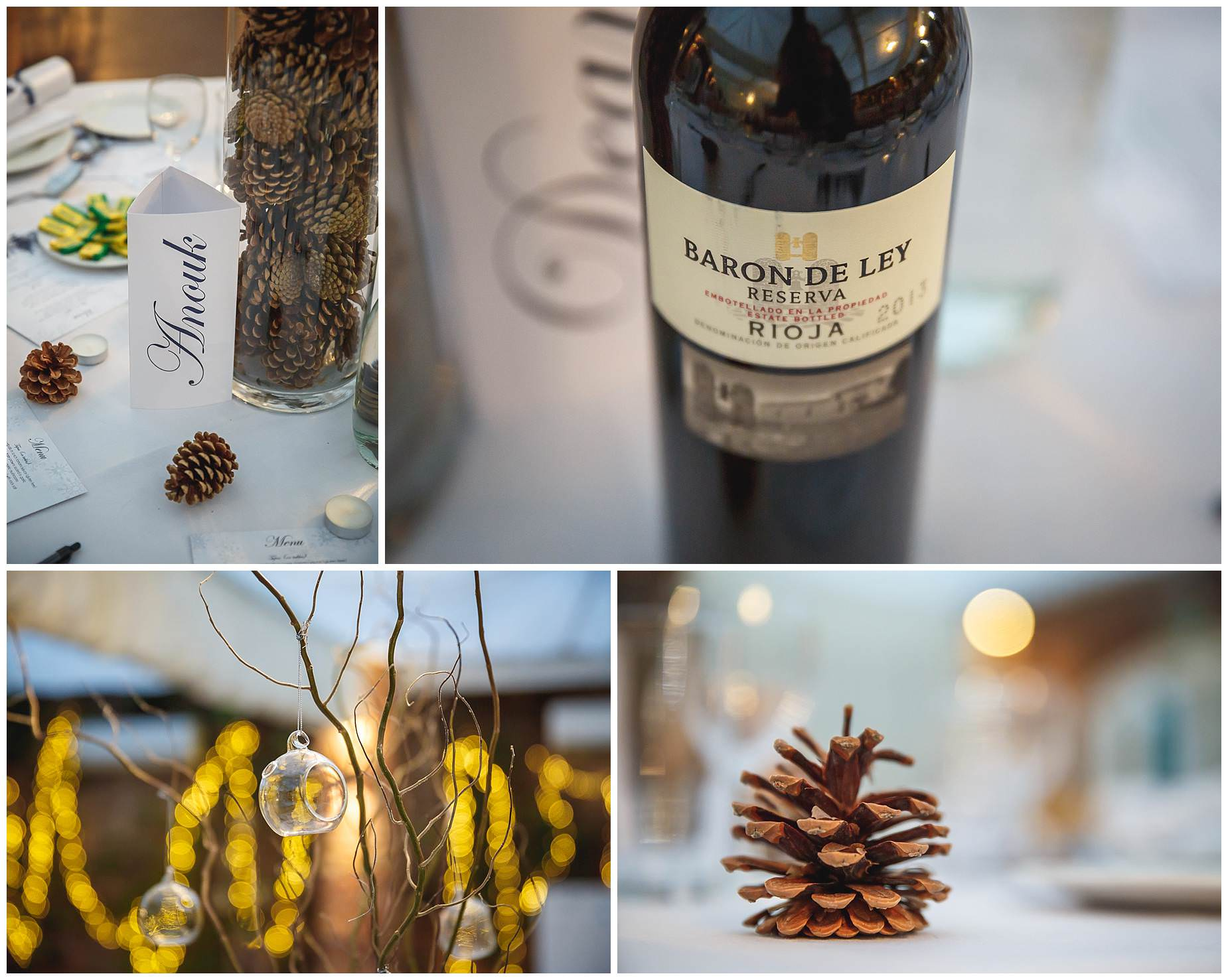 Northbrook Park winter wedding details