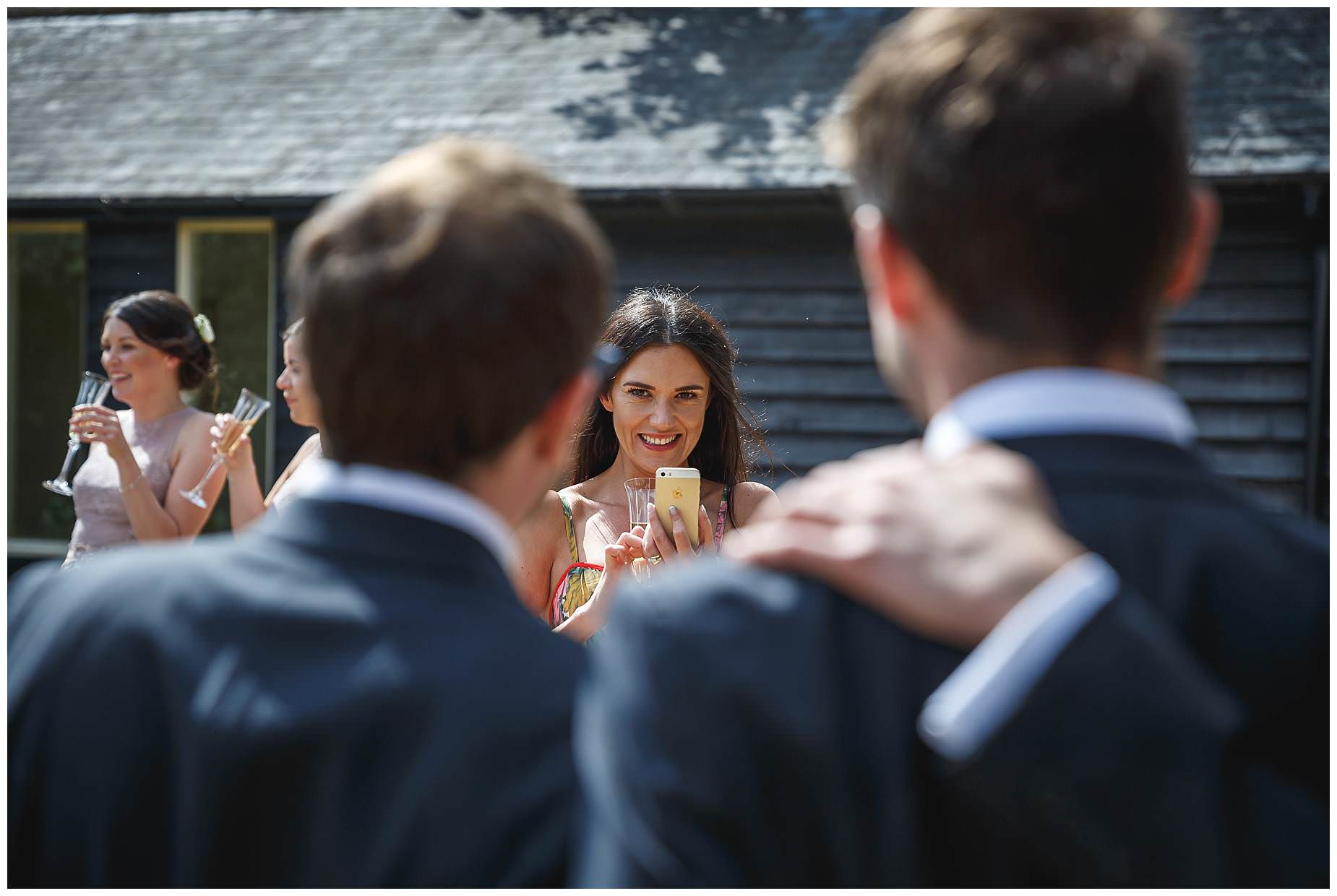 guest at Bury Court Barn Wedding