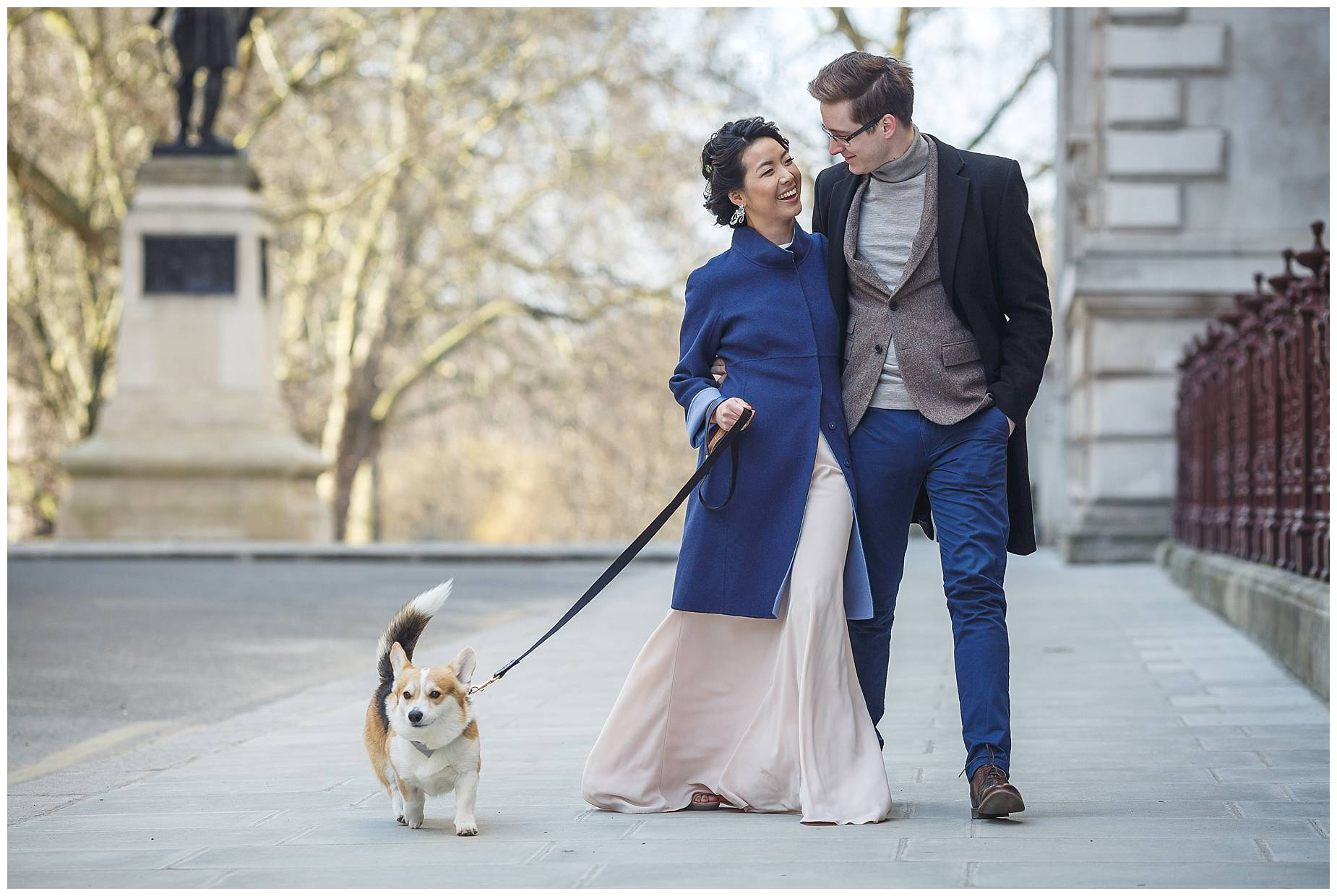 whinny the corgi engagement shoot