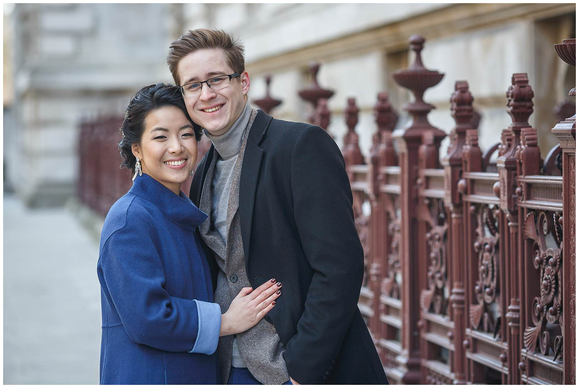 winter engagement shoot London