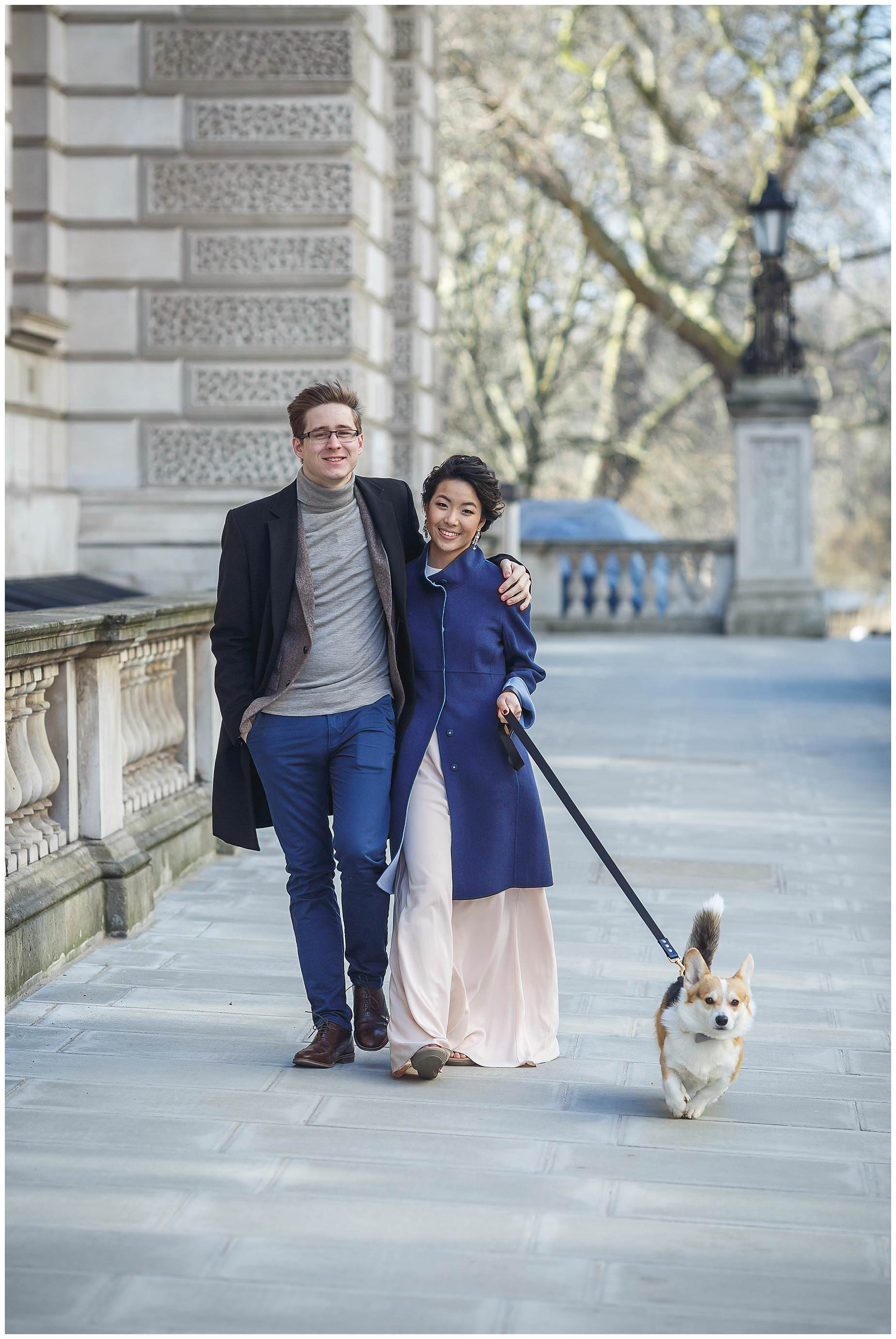 corgi engagement shoot