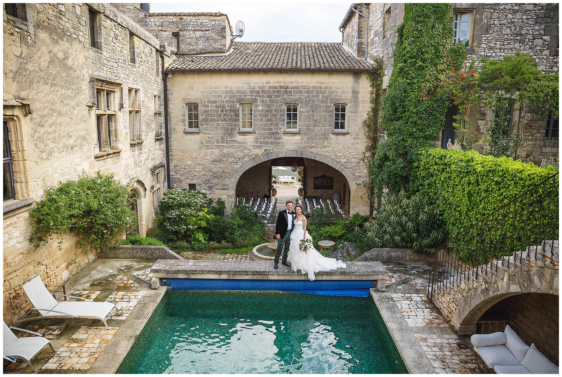 wedding at chateau provence uzes