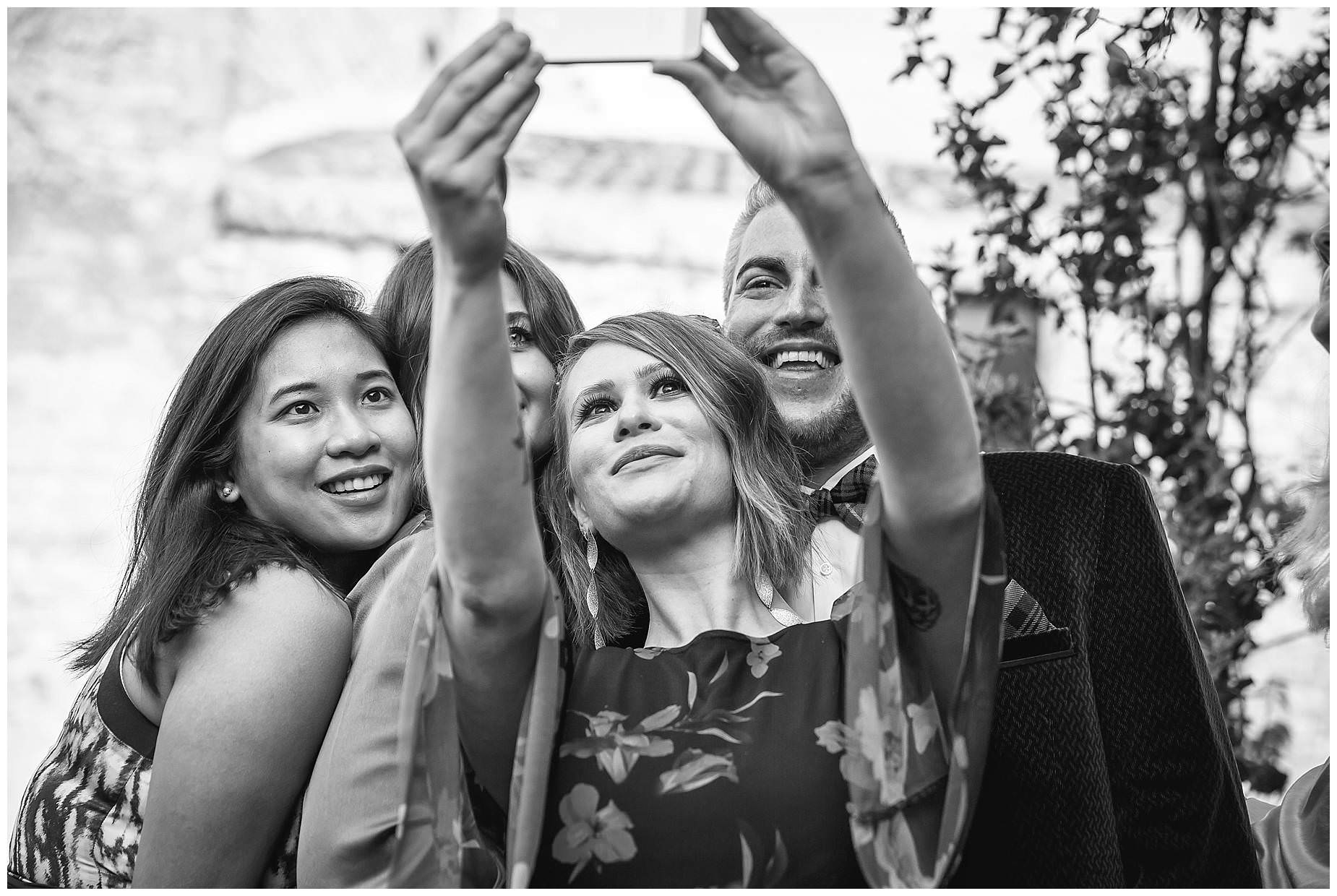 guests take selfies