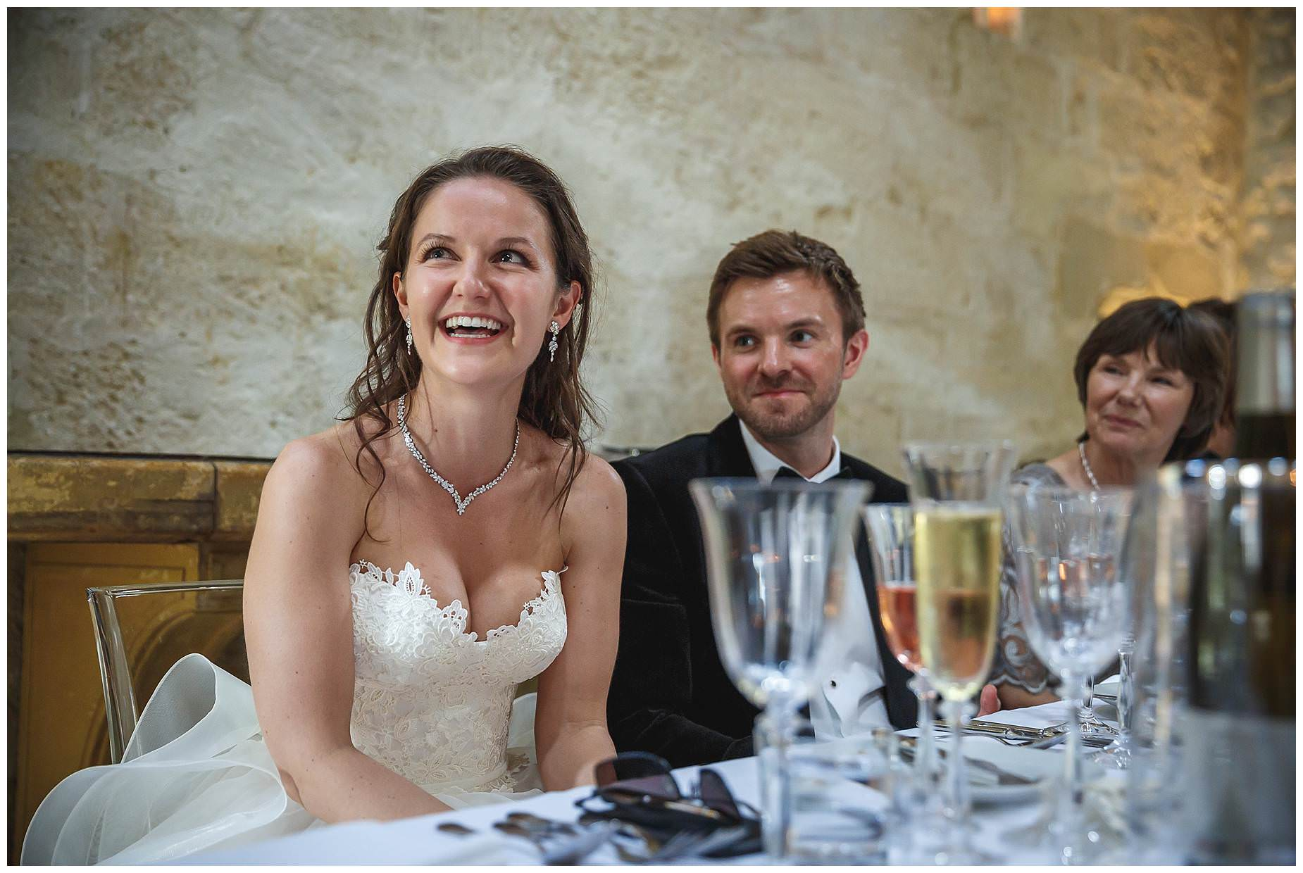 bride at chateau provence wedding uzes