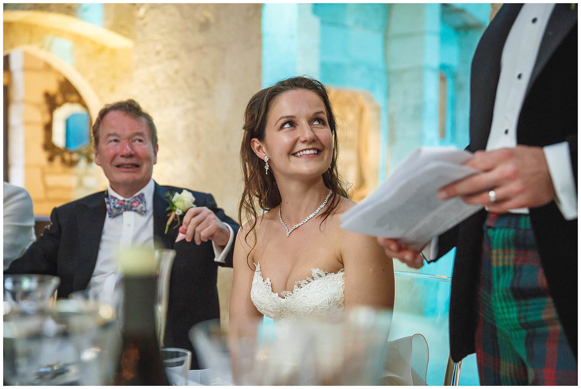 bride listens