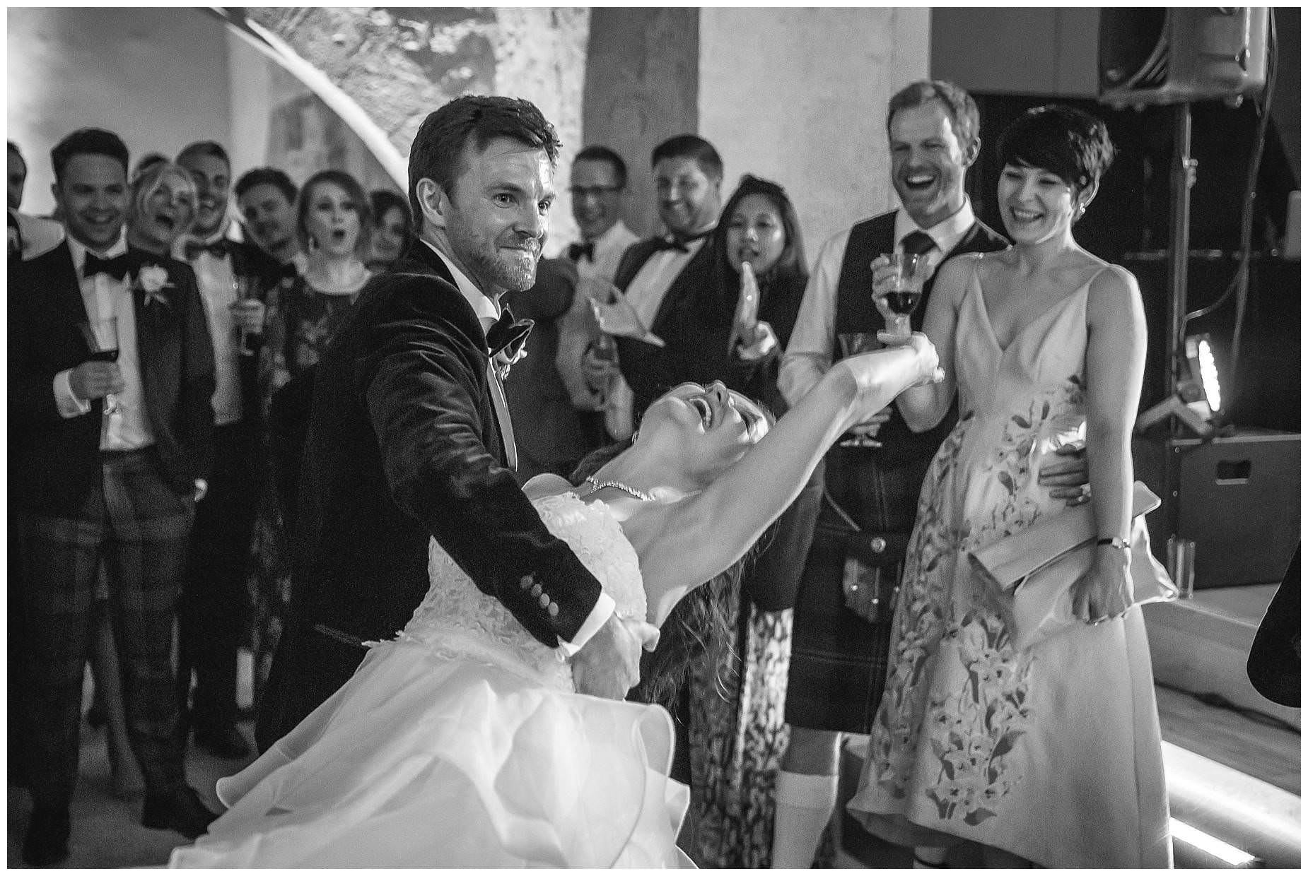 dancing at provence wedding