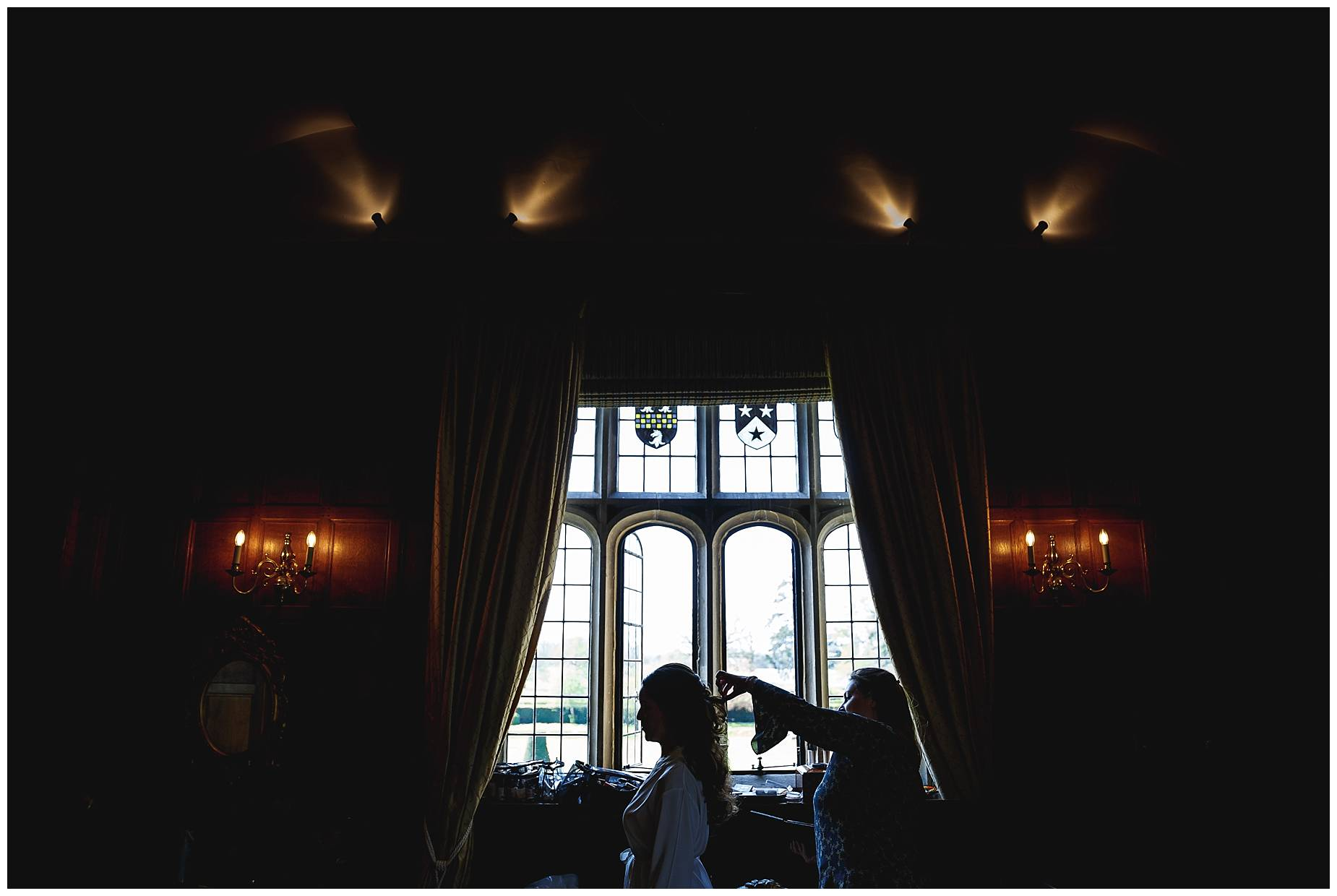 bride at Hengrave Hall wedding