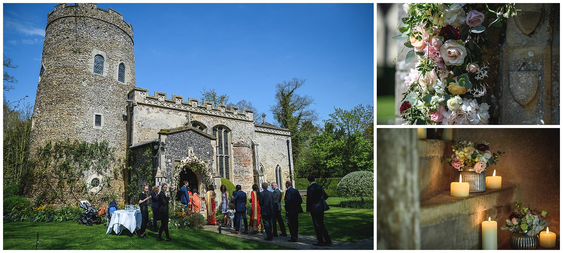 Wedding Hengrave Hall church