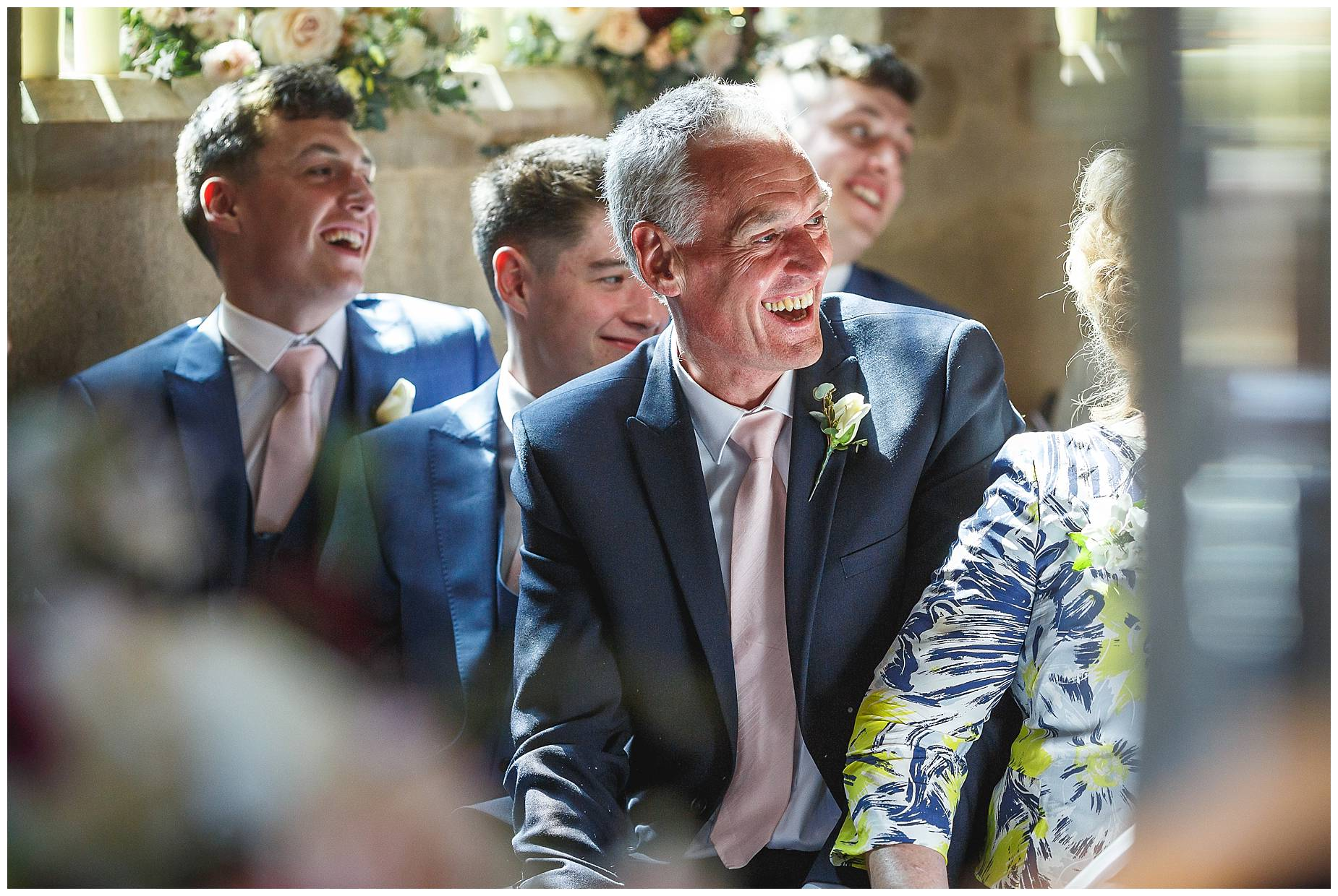 Groom's Dad laughing