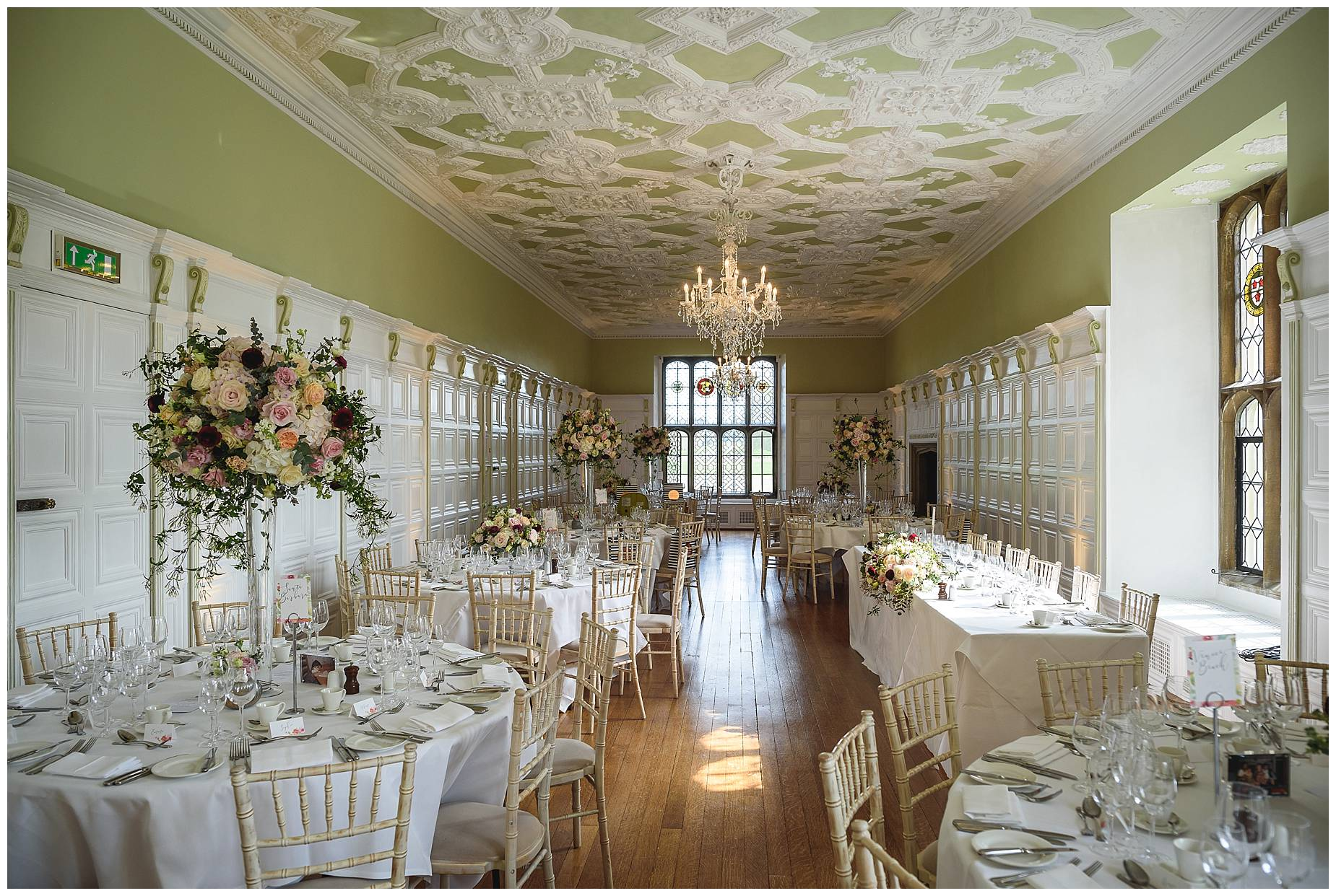 the romm at Wedding Hengrave Hall