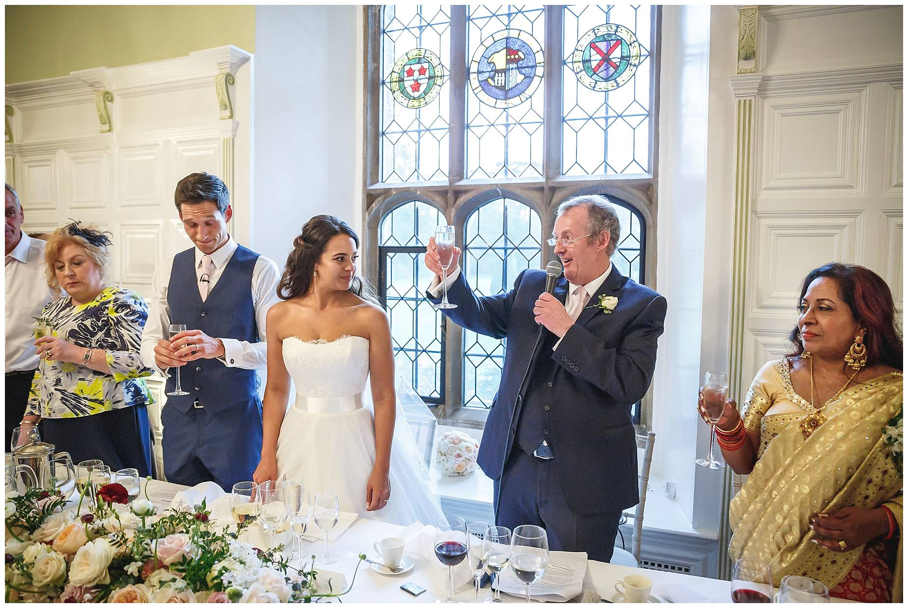 toasts at Hengrave Hall