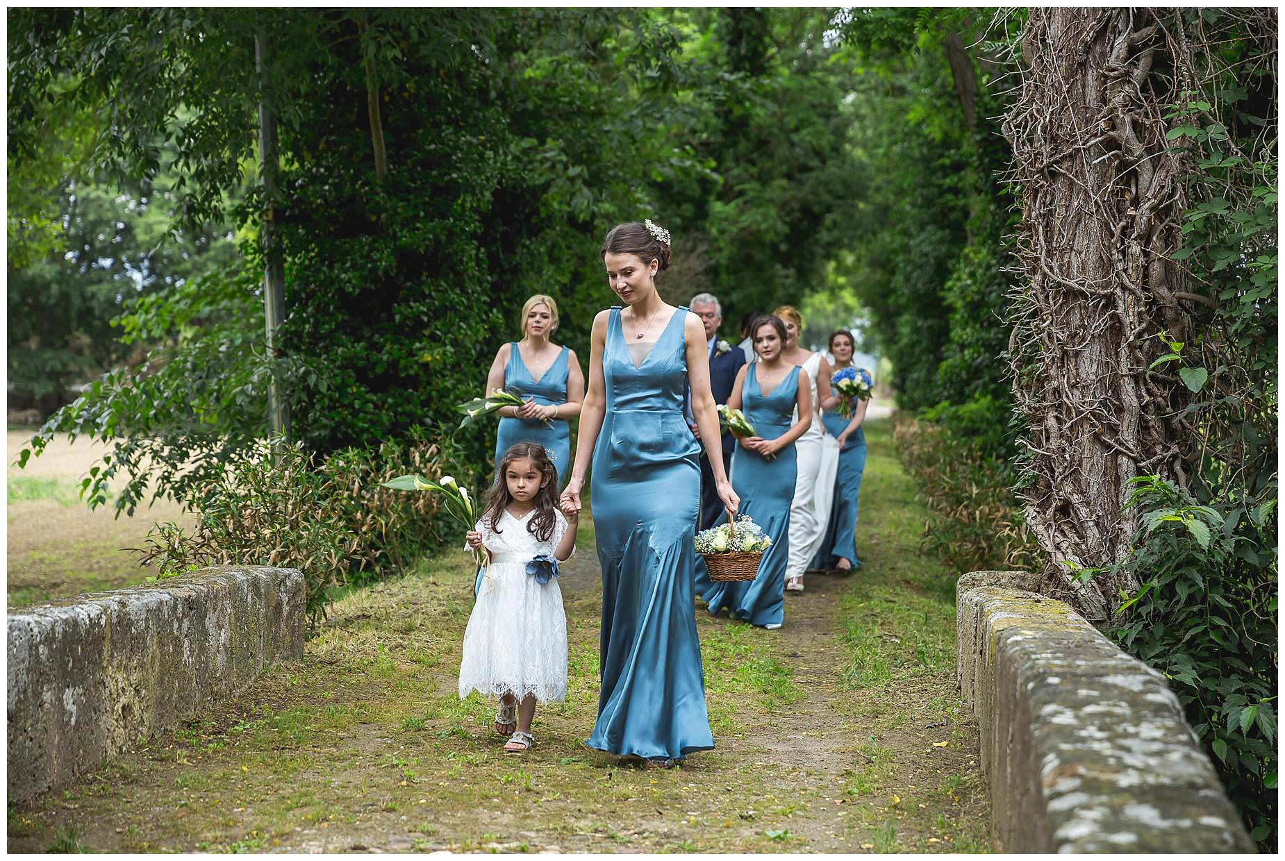 wedding party at Chateau Roquelune