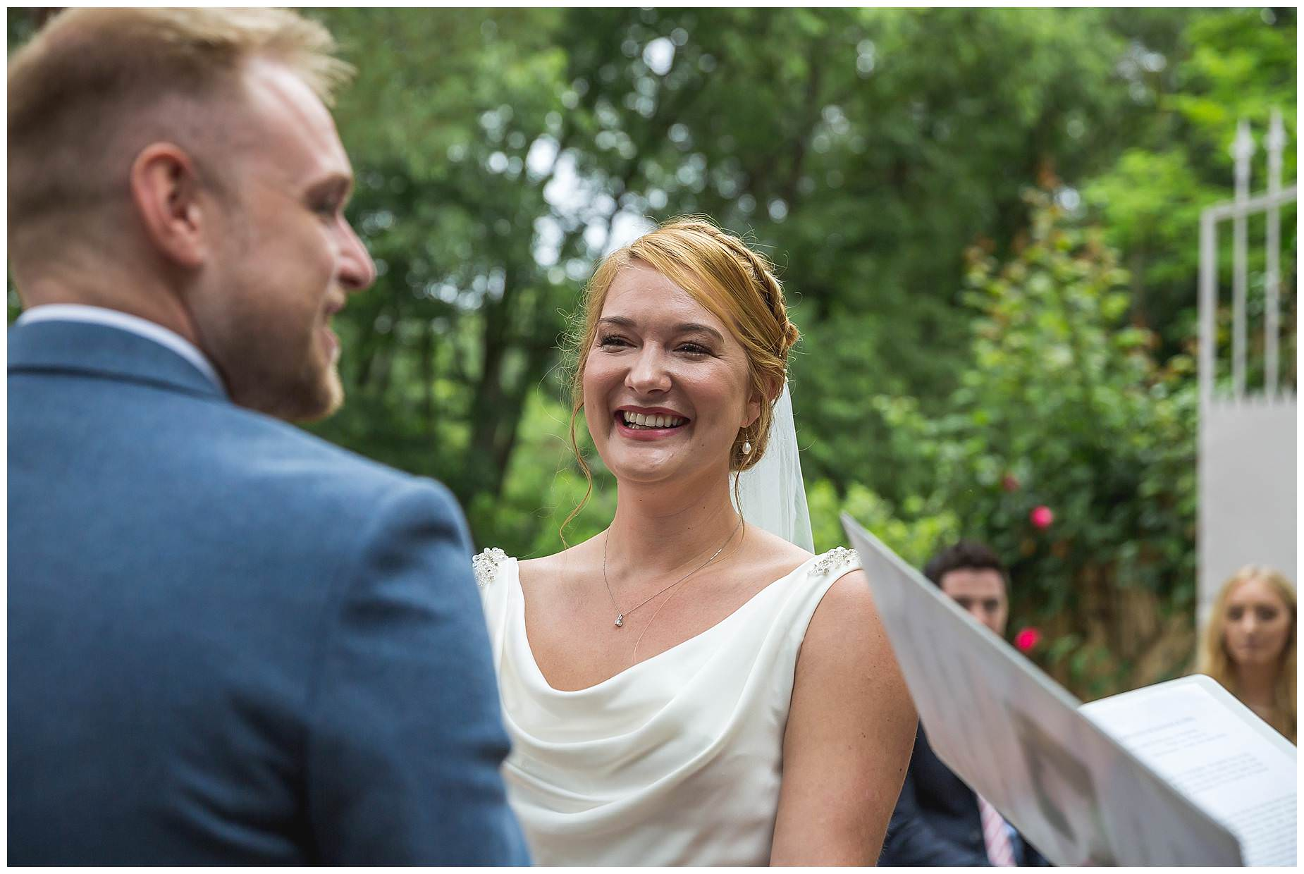 outdoor ceremony at Chateau Roquelune Wedding
