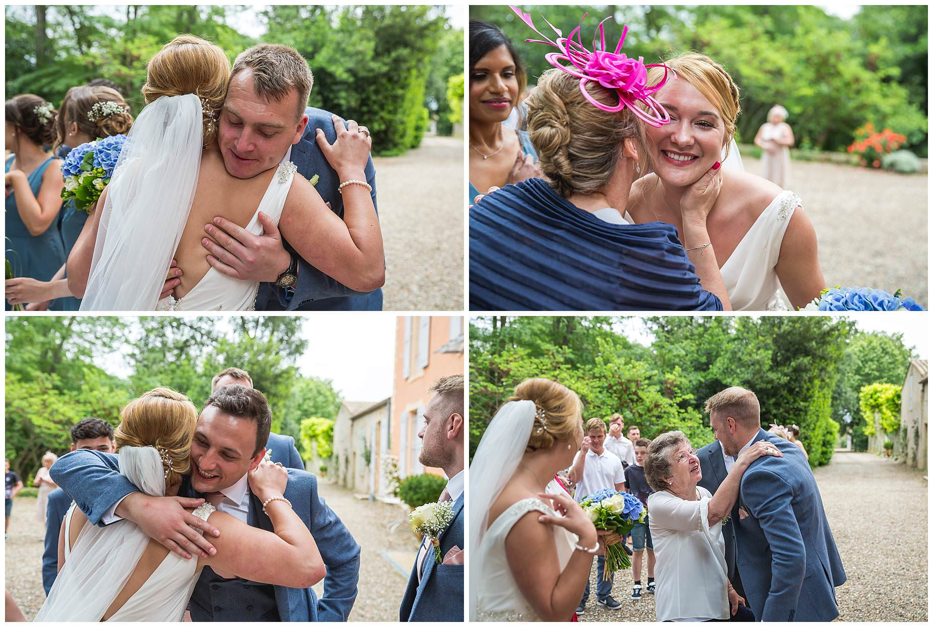 hugs for the couple