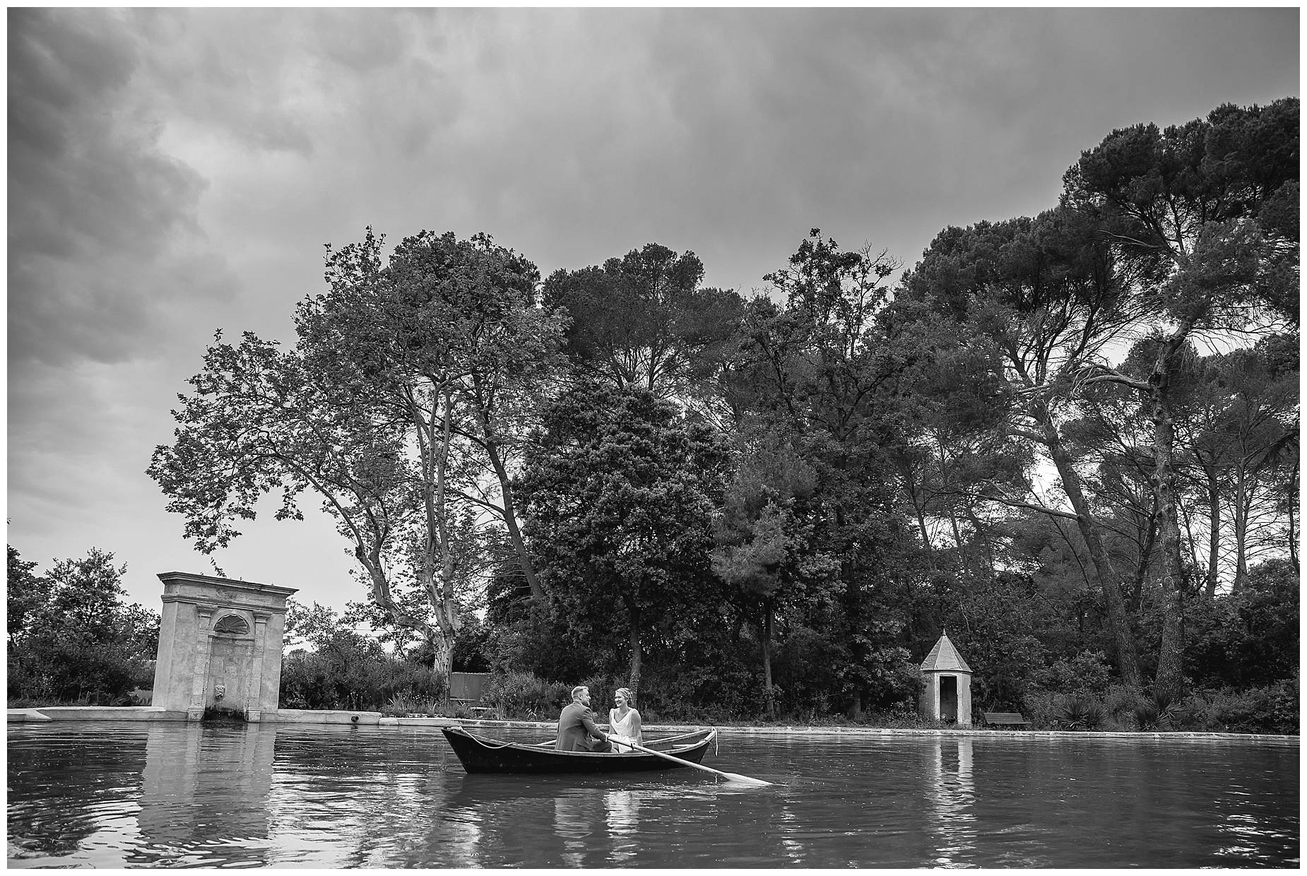 Chateau Roquelune Wedding lake