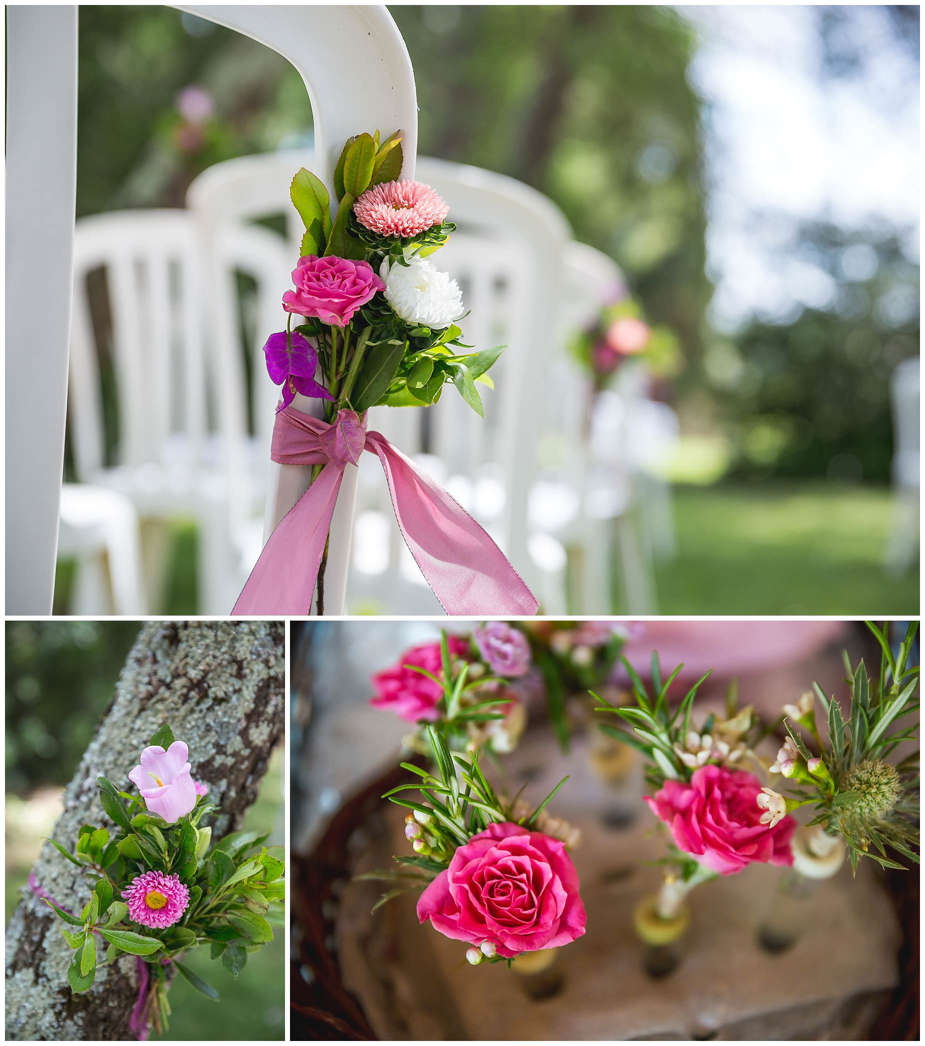 flowers for ceremony at domaine gayda